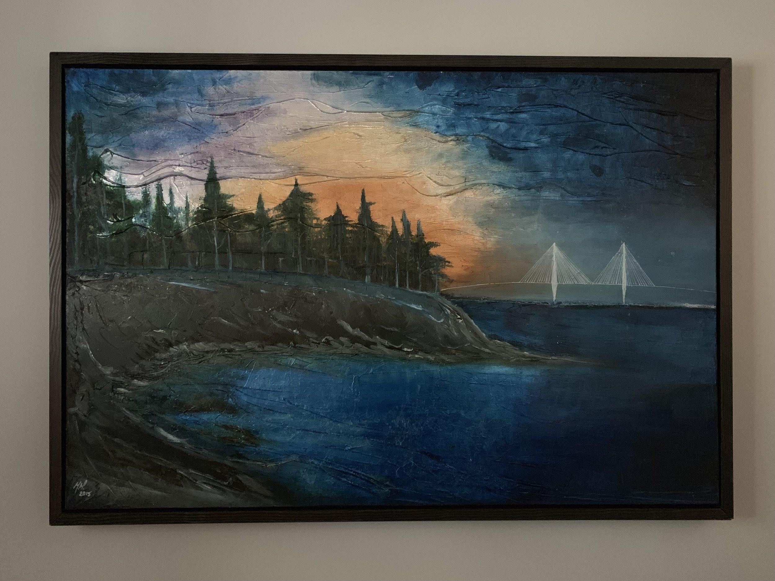 Charleston Harbor (custom frame)