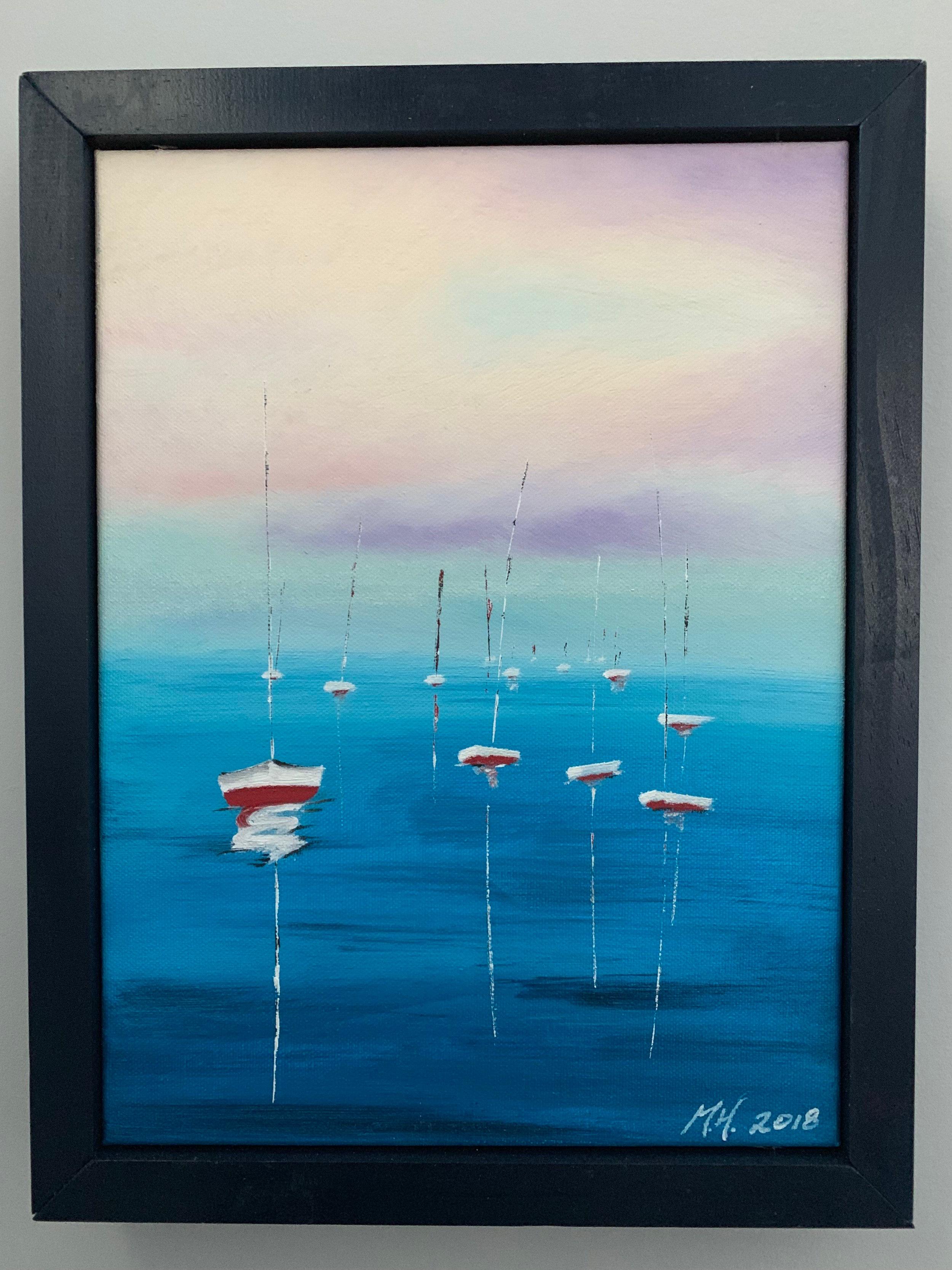 Empty Sailboats (custom frame)