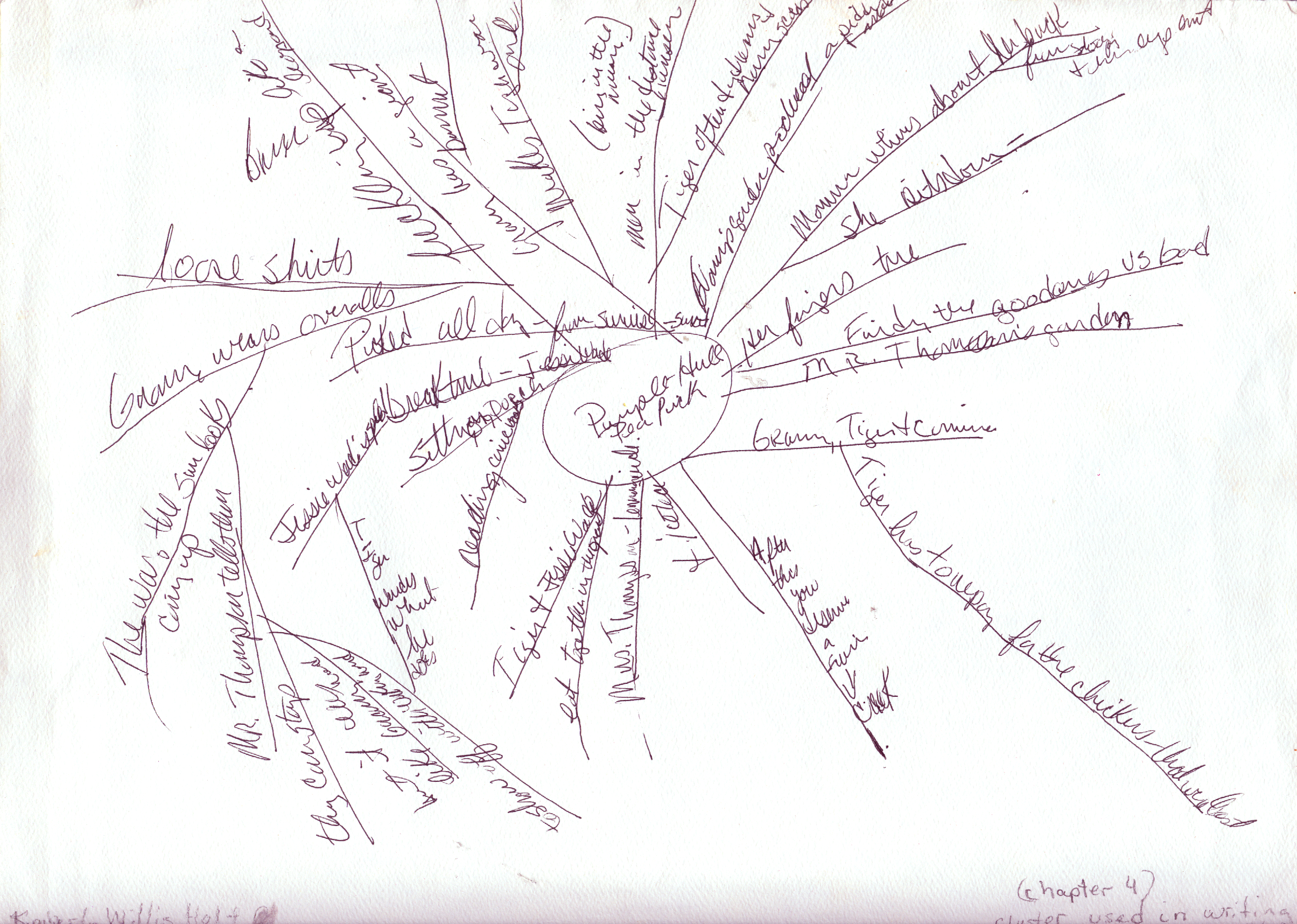 Web used to rewrite a scene in Chapter 4 of My Louisiana Sky