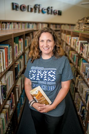 Erin Shaw, Media Specialist with Greenbrier Middle School