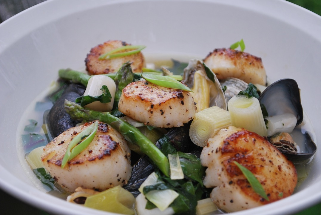 Scallops and Mussels