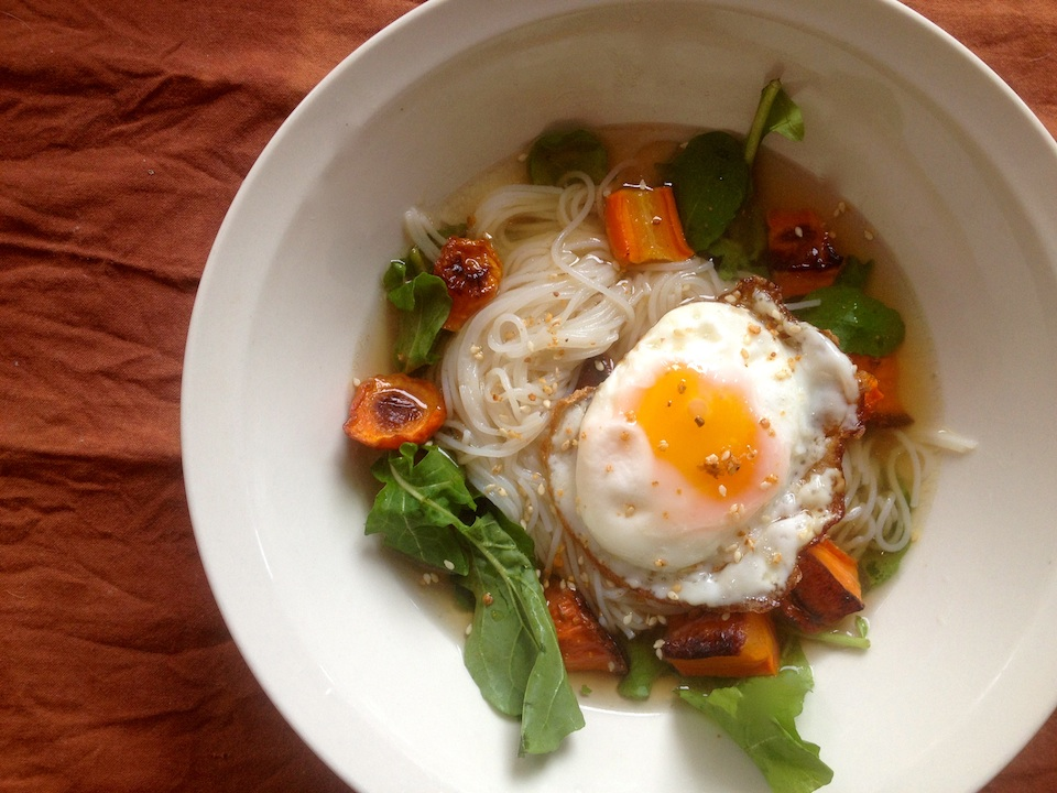 egg and noodles