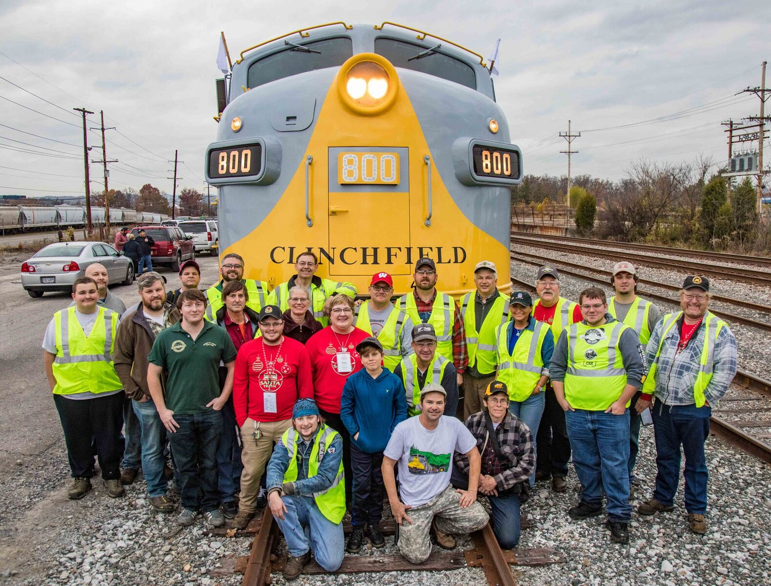 SARM Volunteers and friends that chased the Santa Train. Mark Glucksman photo.
