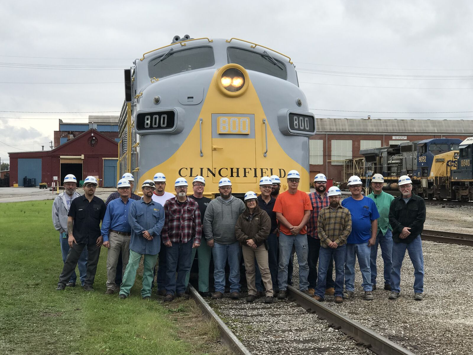 Some of the CSX employees involved in the fantastic restoration of CRR 800. Mark Glucksman photo.