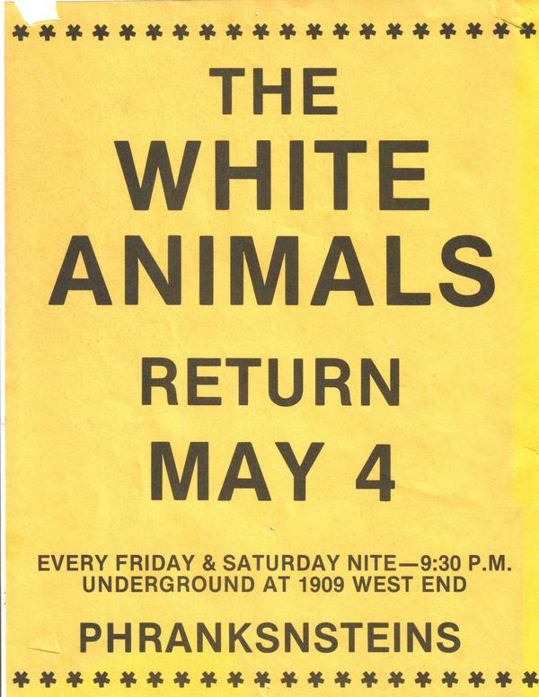 White Animals Poster, 1979