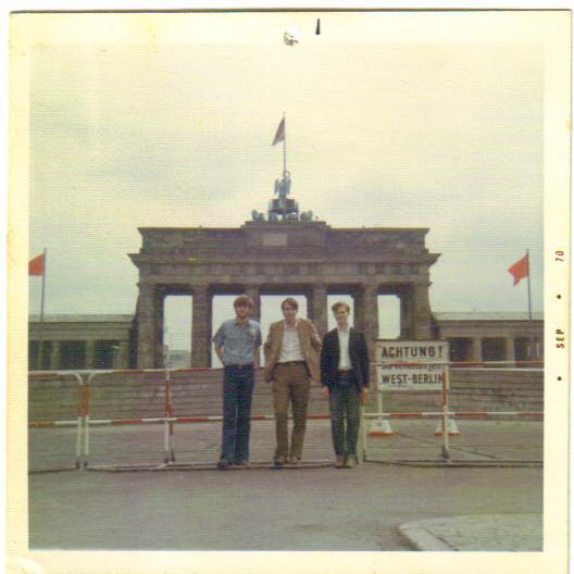 Brandenburg Gate, Berlin Wall, 1970