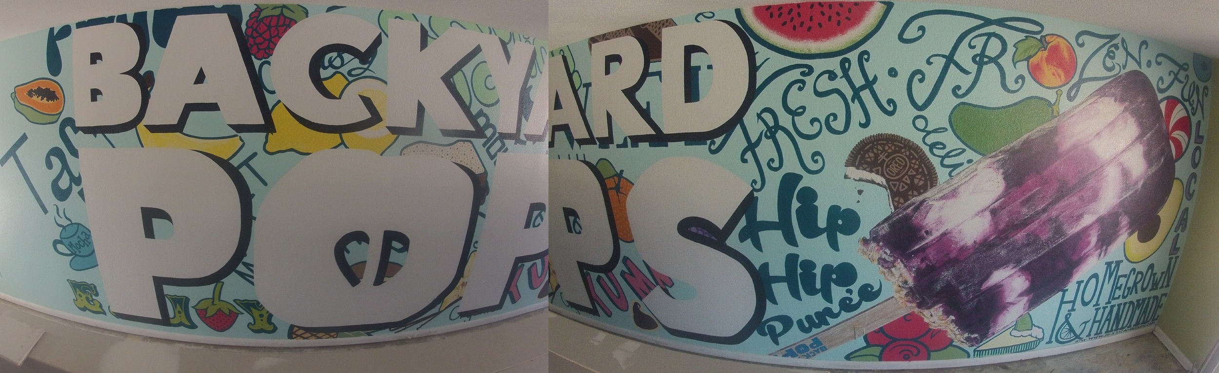 """DELICIOUS WALL"" BACKYARD POPS"