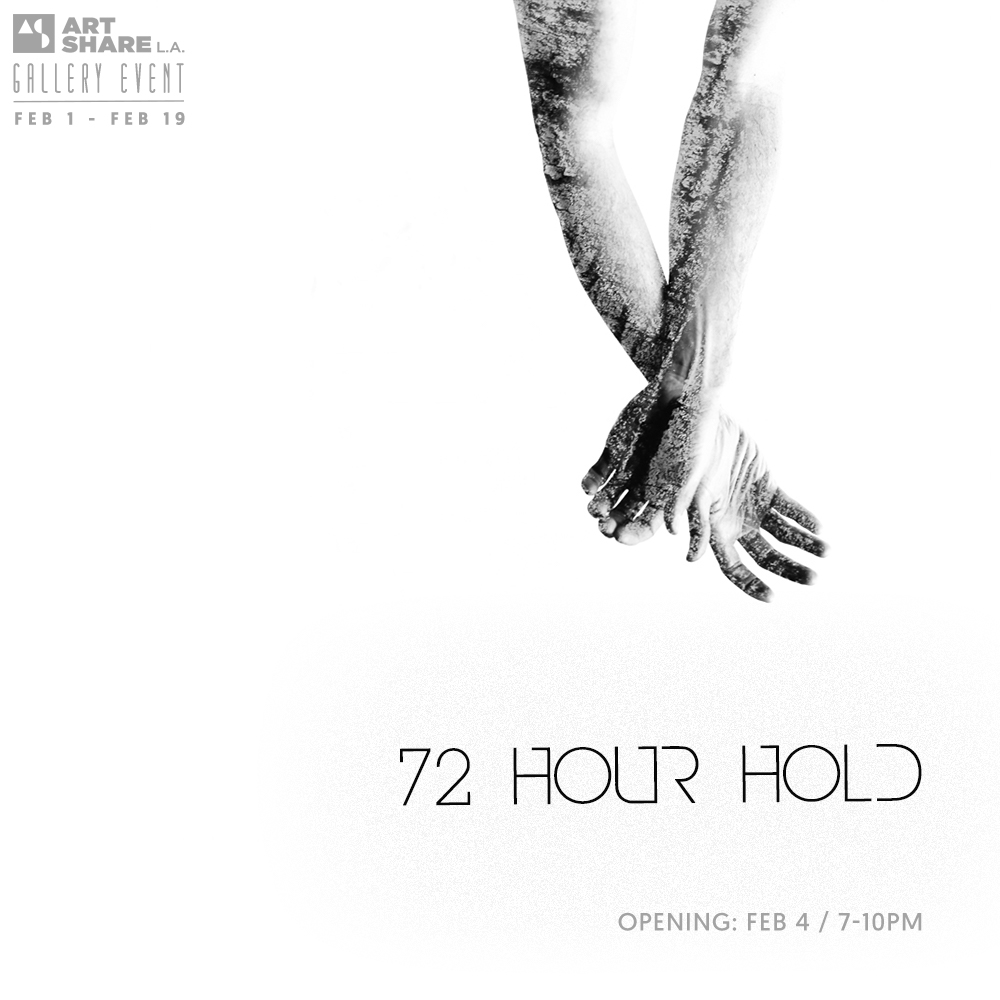 "Honored that images from Transcriptions are featured in  ""72 Hour Hold,"" opening at Art Share LA  in Los Angeles."
