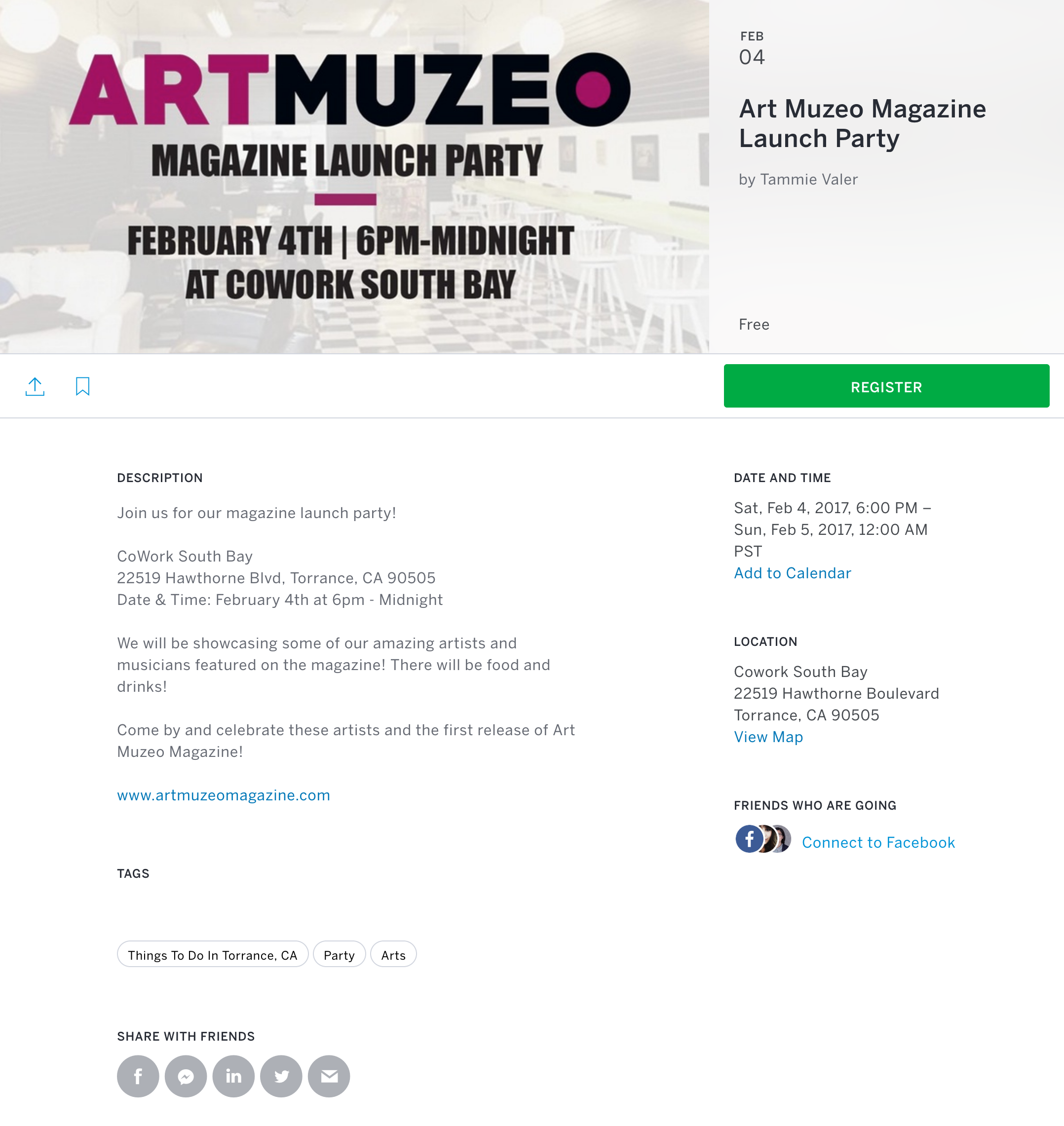 Join me and the other amazing artists of Art Muzeo. Tickets available at Eventbrite.com. The first issue of  Art Muzeo now available for download or purchase.