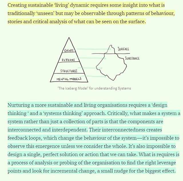 "The work we do, summarized for you. From ""Designing Future Organizations"" by Leigh Whittaker  #systemsthinking #designthinking #orgdesign #generativedesign #designthinking #patterns #mentalmodels #invisiblework #thinking #holonomy #feedbackloops #designresearch"