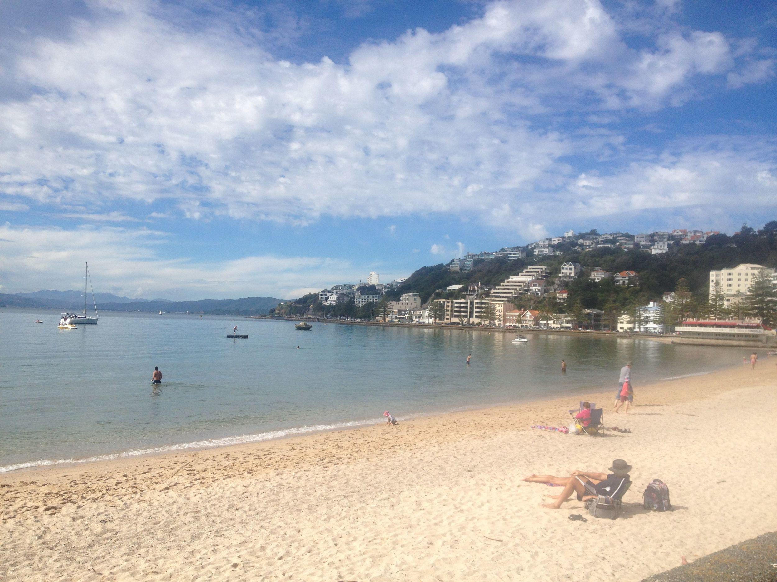 Oriental Bay in the sunshine.