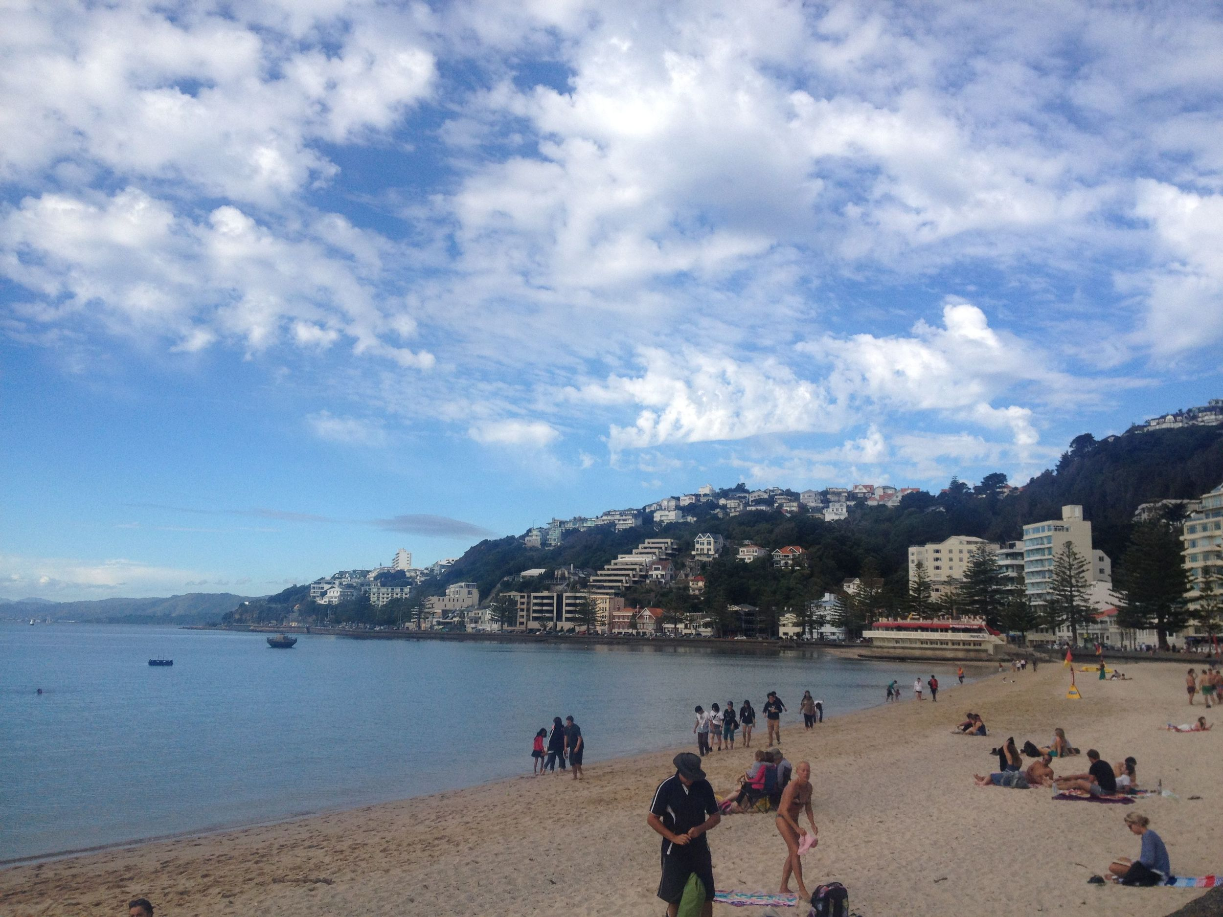 Oriental Bay when the clouds cover our warming star.