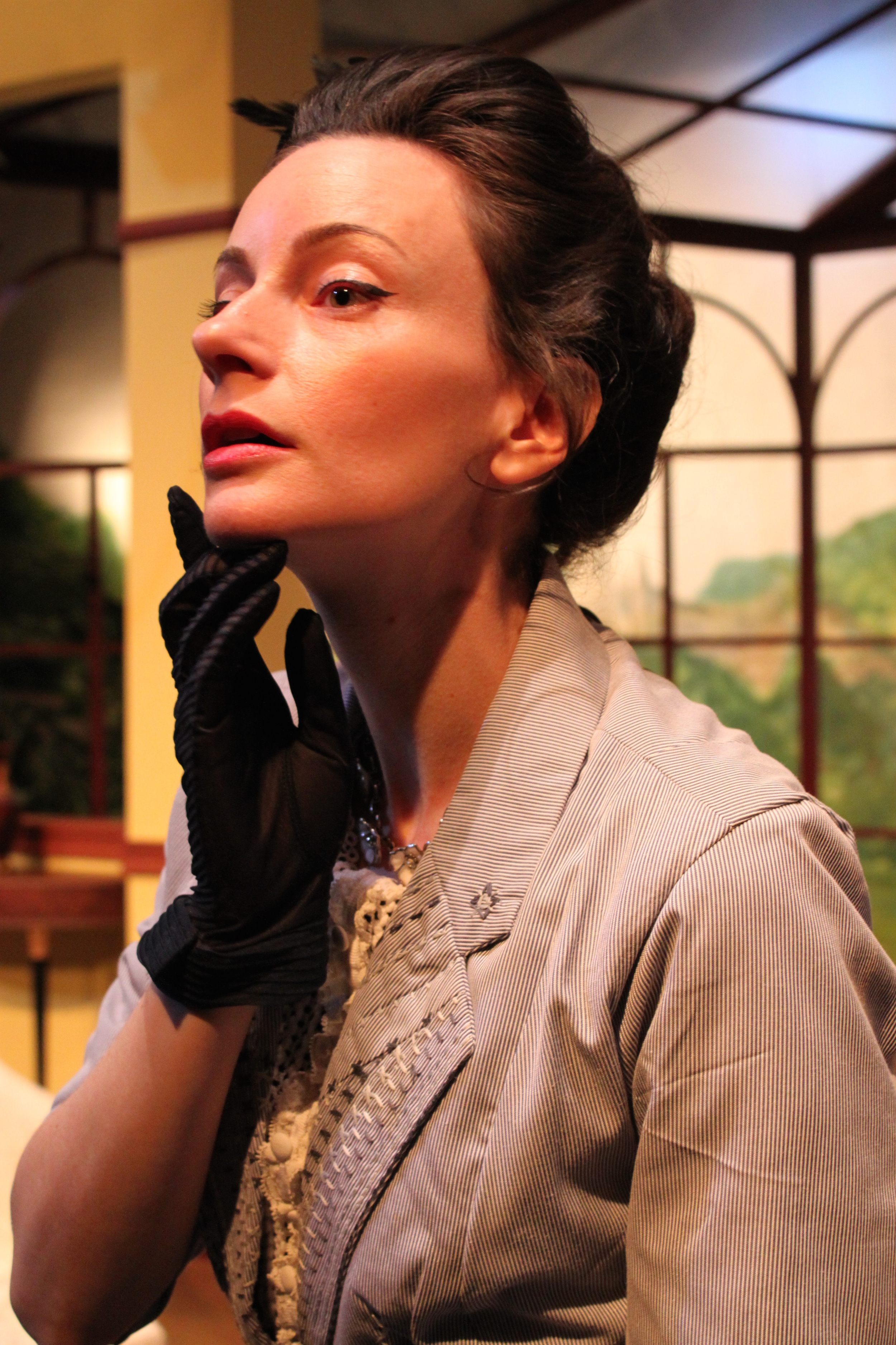 Casey McKinnon as Lady Stutfield. Photo courtesy of director  Armina LaManna .