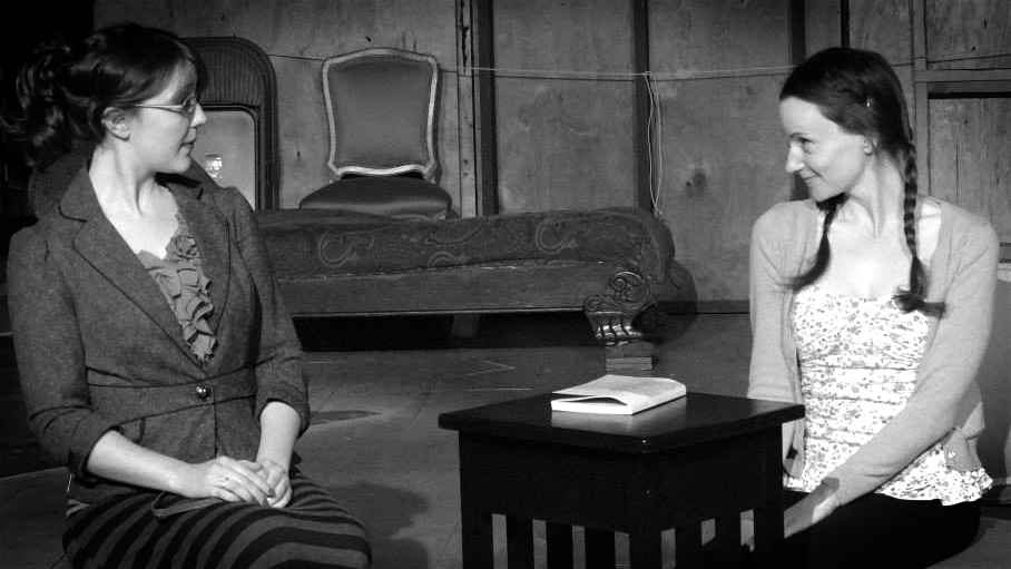 Erin Barnes  and Casey McKinnon face off in a scene from   The Importance of Being Earnest   at Antaeus Theatre. (Photo courtesy of  Geoffrey Wade )