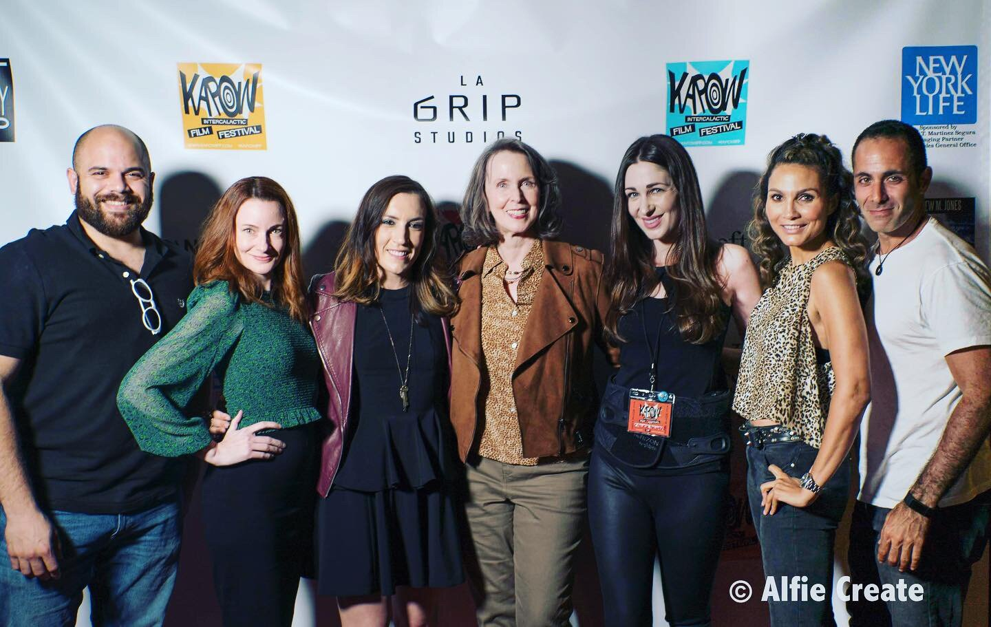 The cast of  Chromo46  on the red carpet of the Kapow Intergalactic Film Festival. Photo courtesy of Alfie Create.