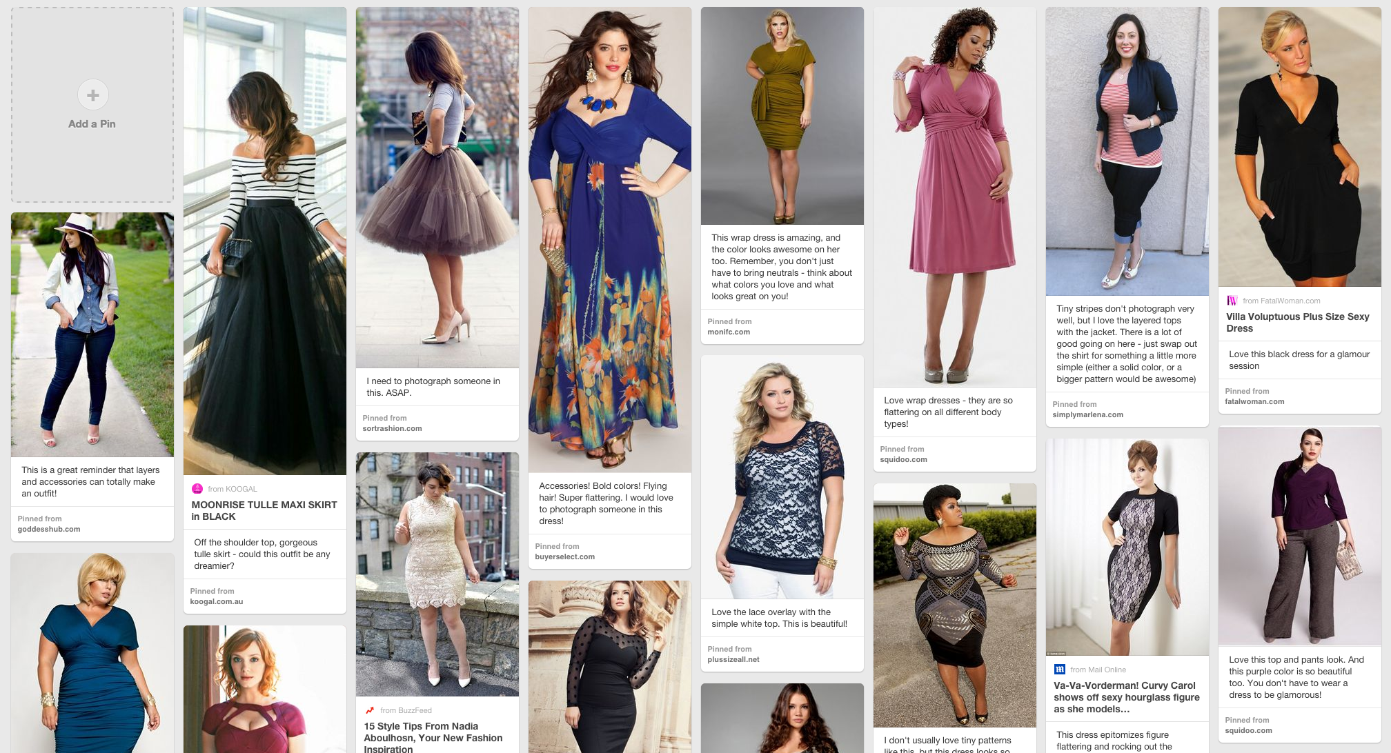 Click here for a style board specifically curated for your glamour session. Make sure you read the tips listed underneath each image to see why each outfit is so wonderful!