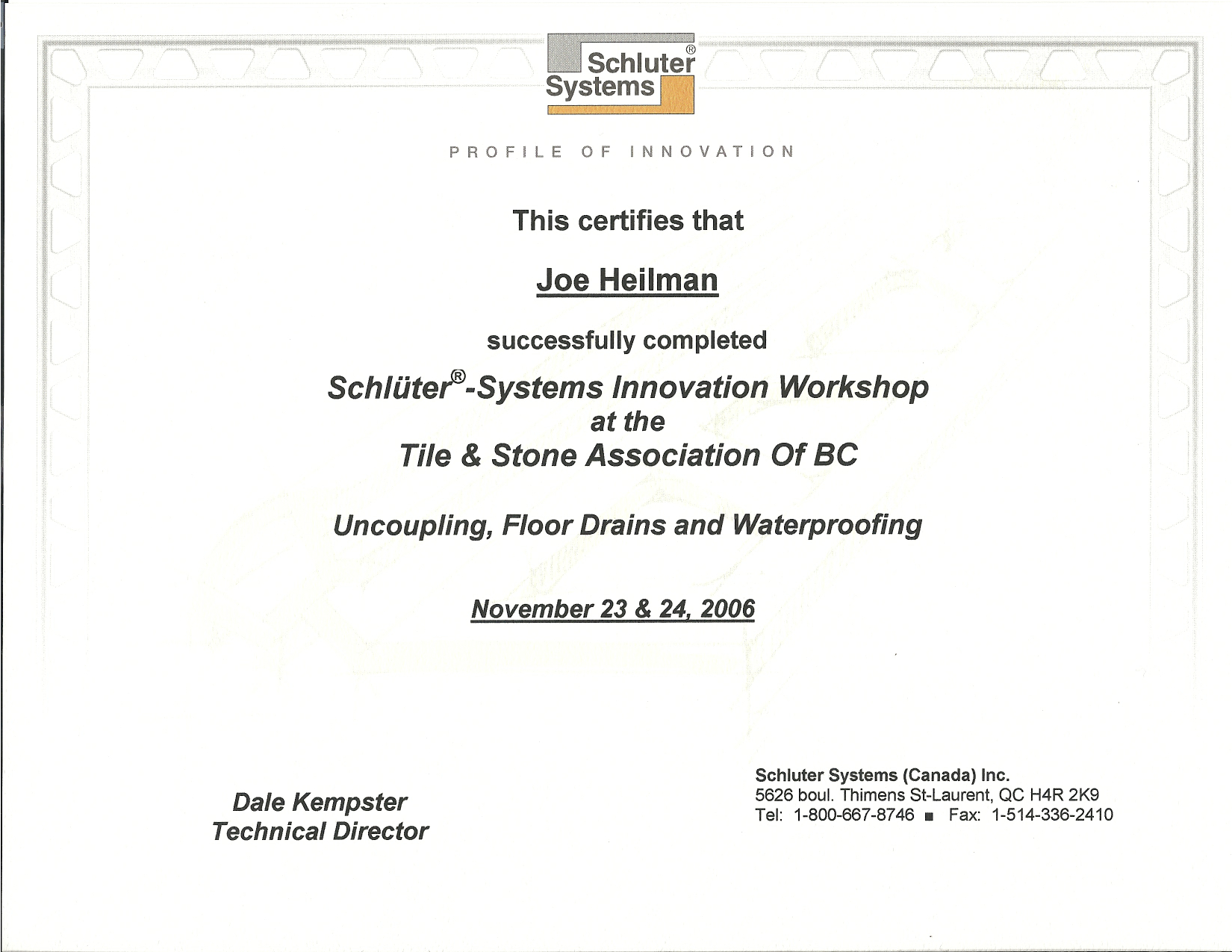 Schluter Certification.jpg