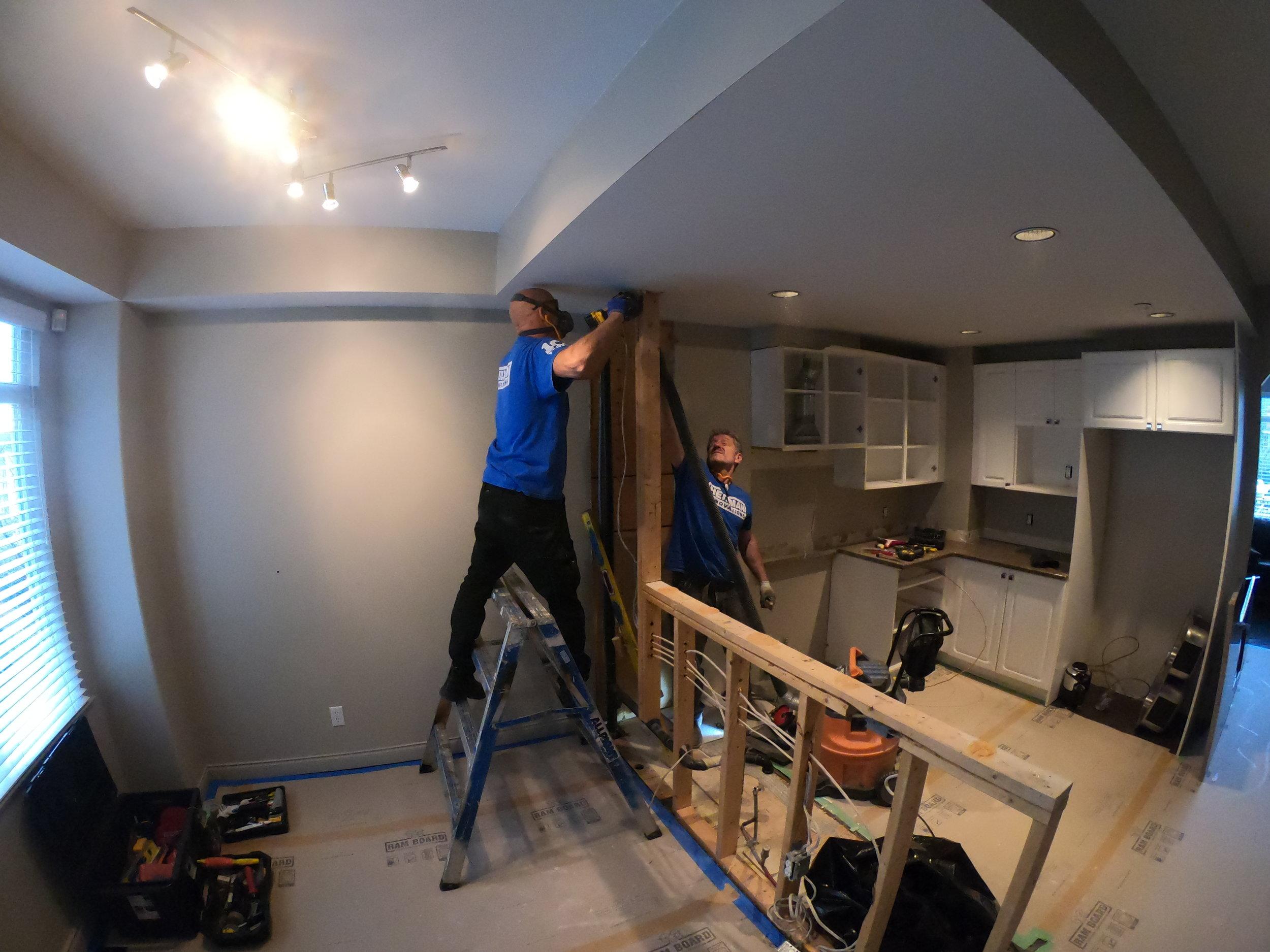Removing dividing wall