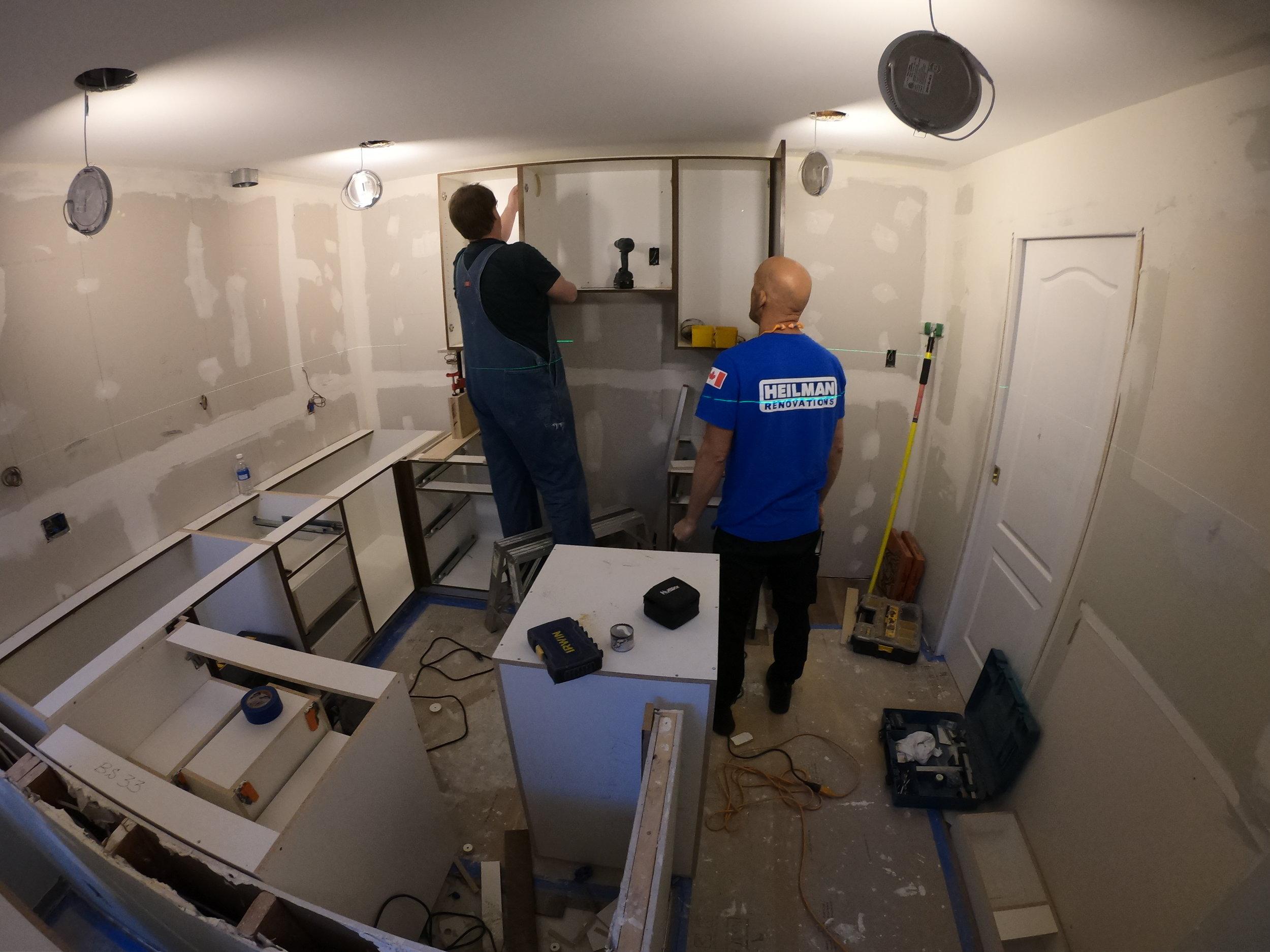New cabinets instalation