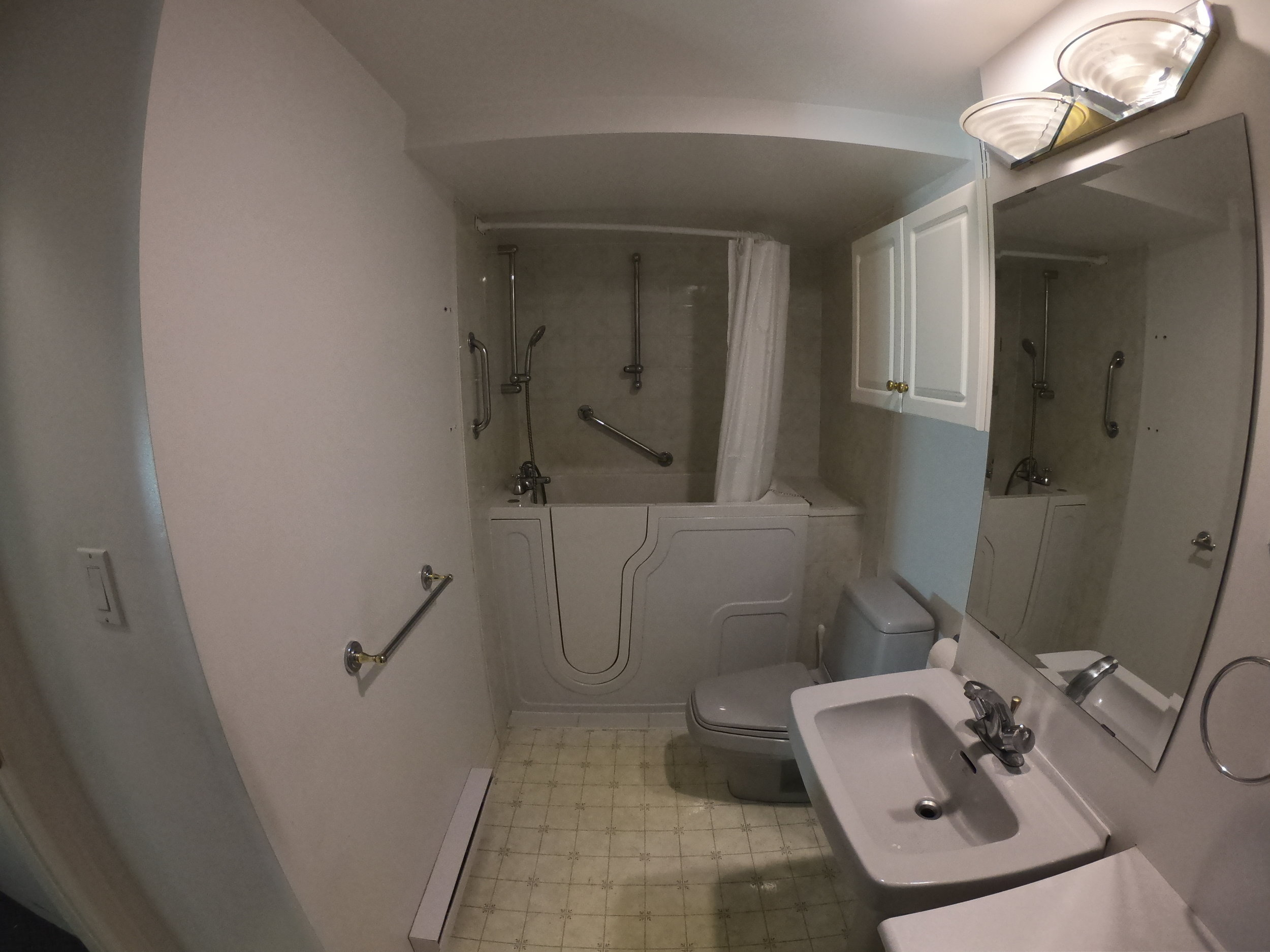 Old shower in this North Vancouver Renovation