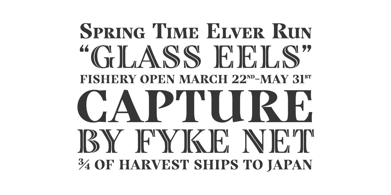 Grafton Titling English Specimen