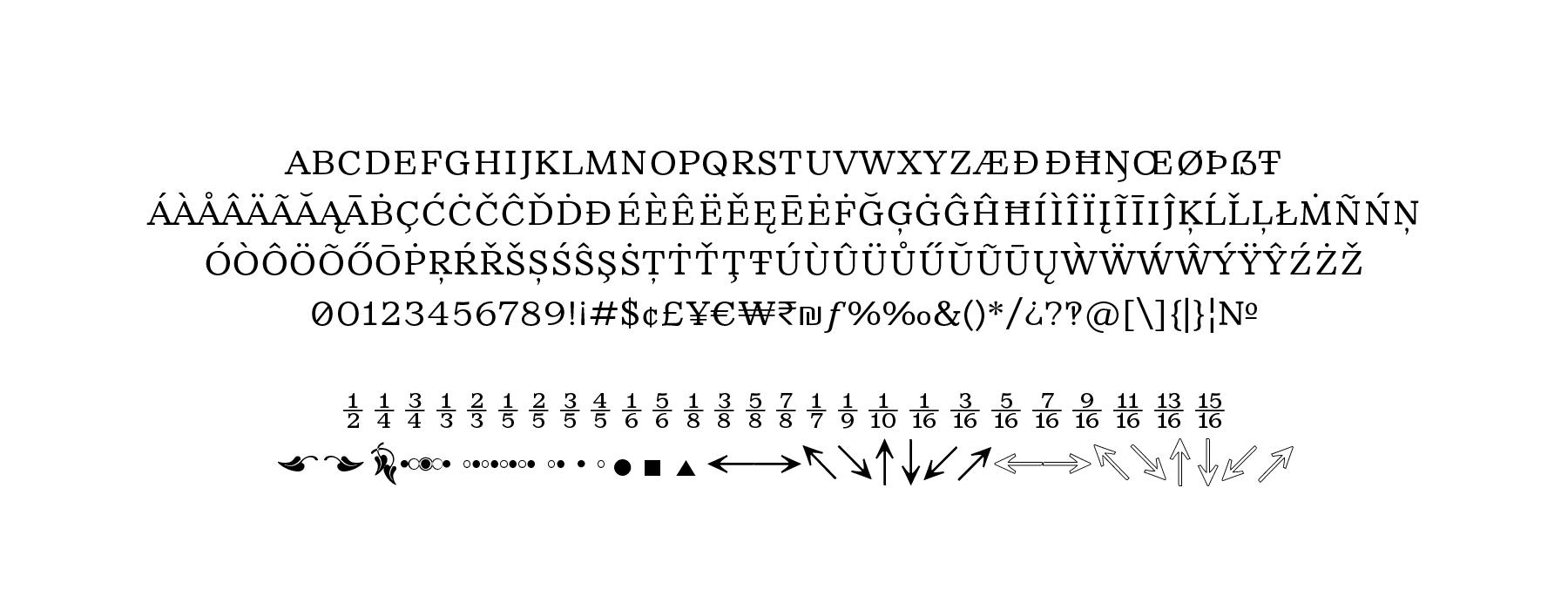 Rieux Character Set