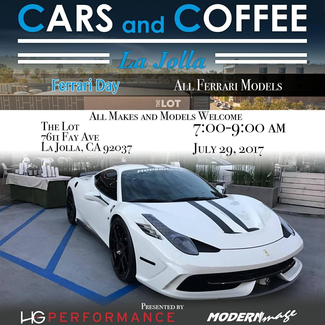 Cars and Coffee-la-jolla