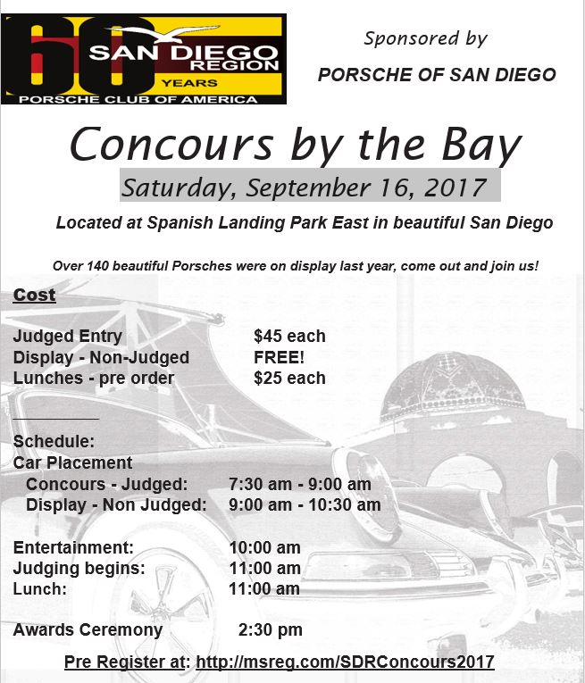 PCASDR Concours by the bay