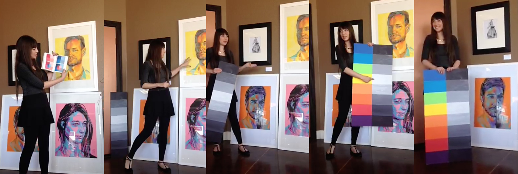 Melissa Carmon Myers Artist Talk on Color Theory at Living Fire Gallery