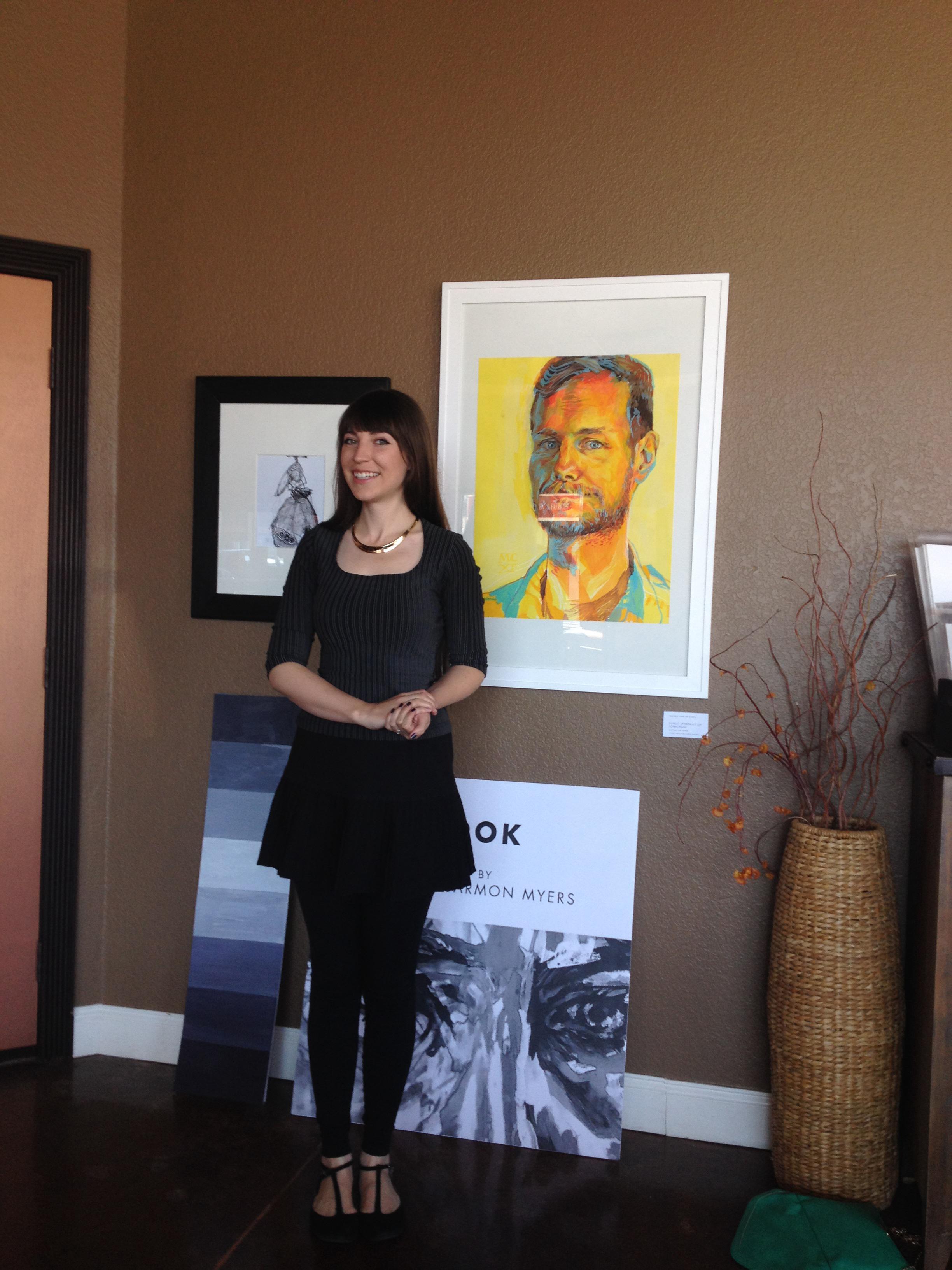Melissa Carmon giving an artist talk at Living Fire Arts