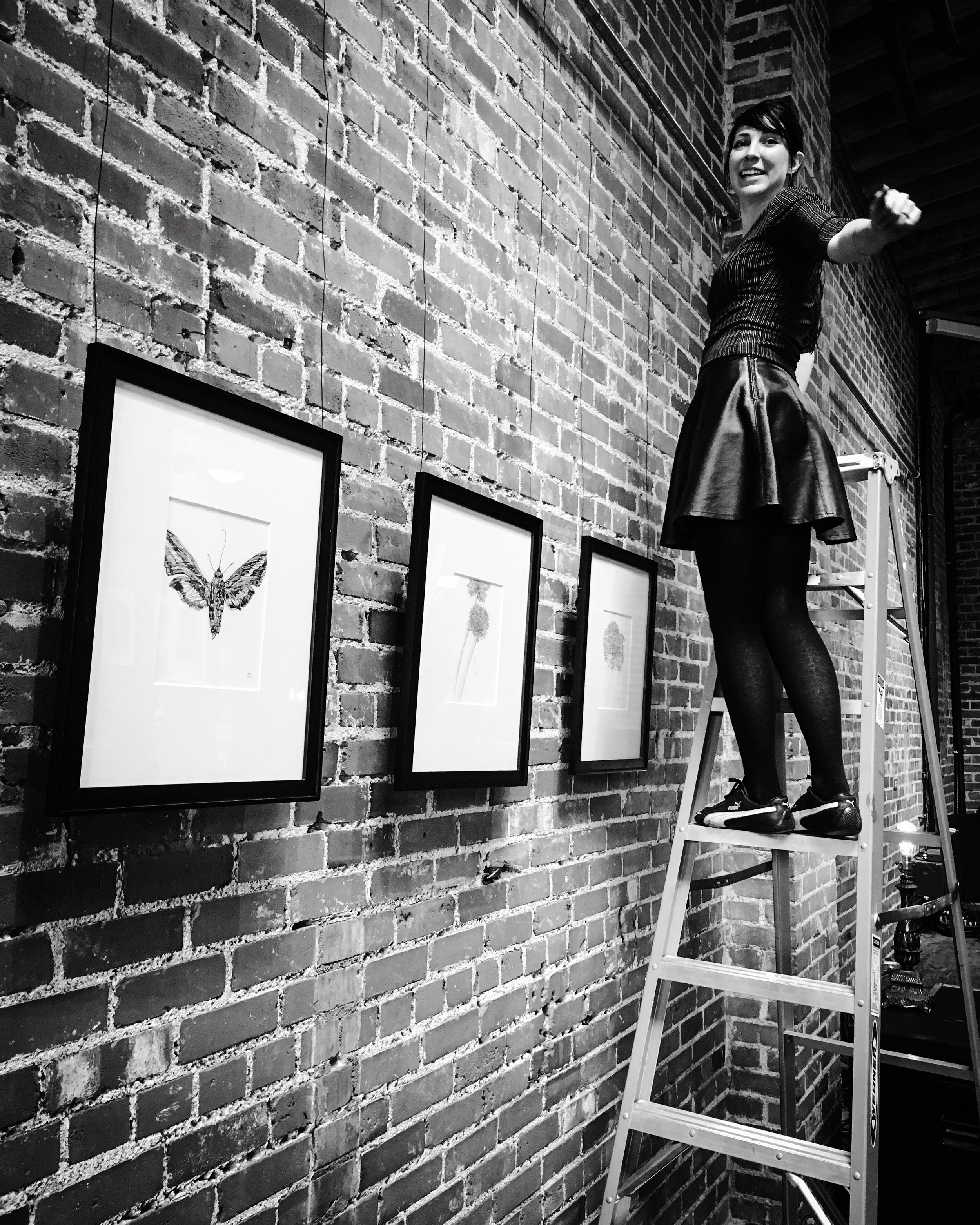 Melissa Carmon and her artwork at 144 S. Mason St., Fort Collins, CO