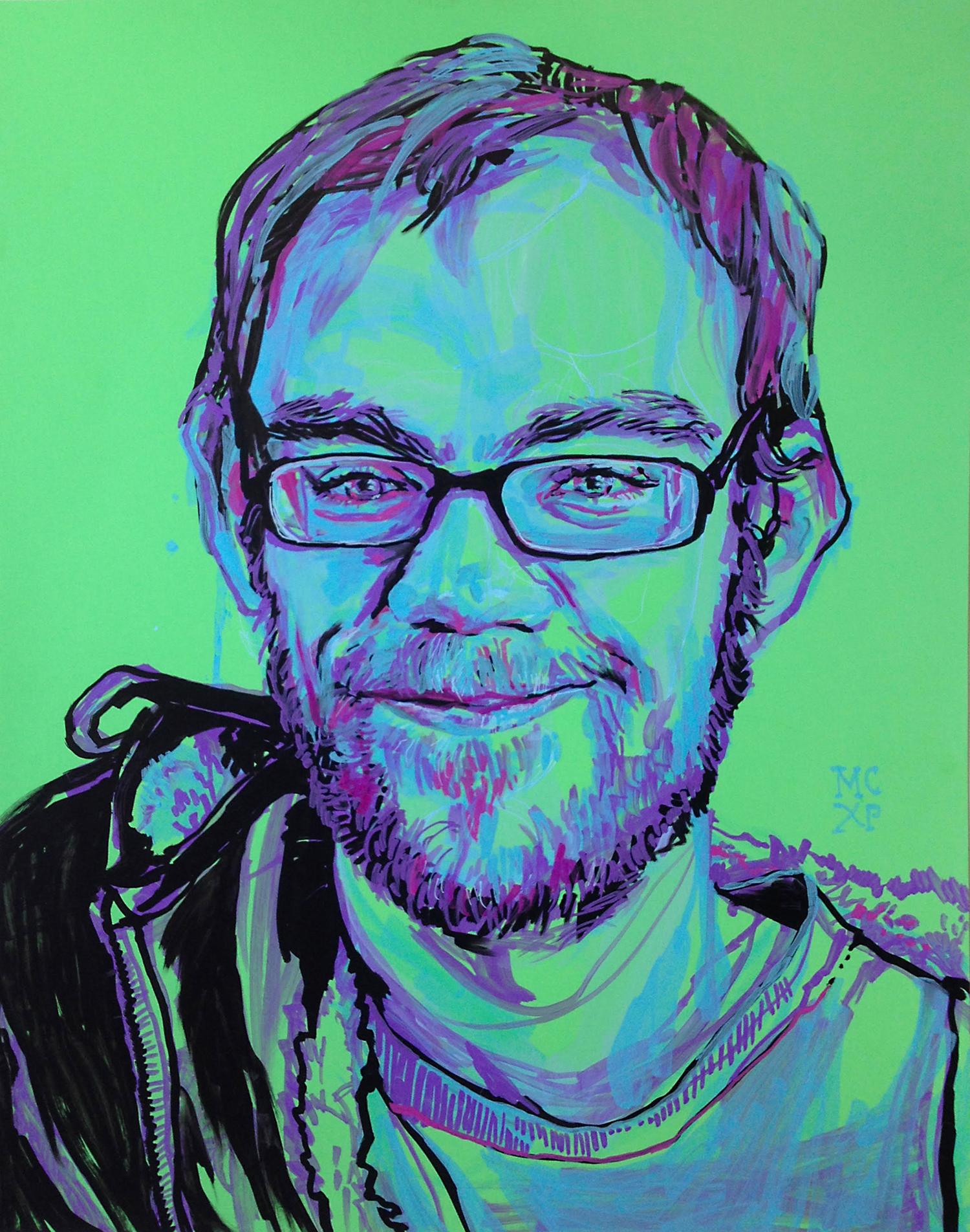 Portrait of Michael, by Melissa Carmon, Acrylic on Paper 1500 px.jpg