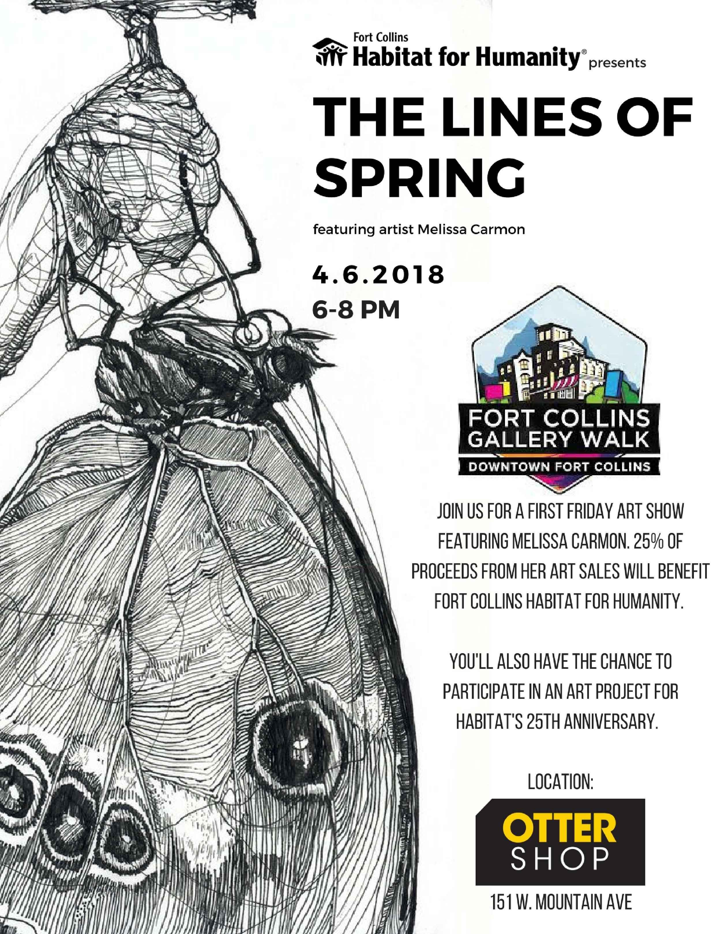 Featured Artist at Otterbox, with show to benefit Fort Collins Habitat for Humanity