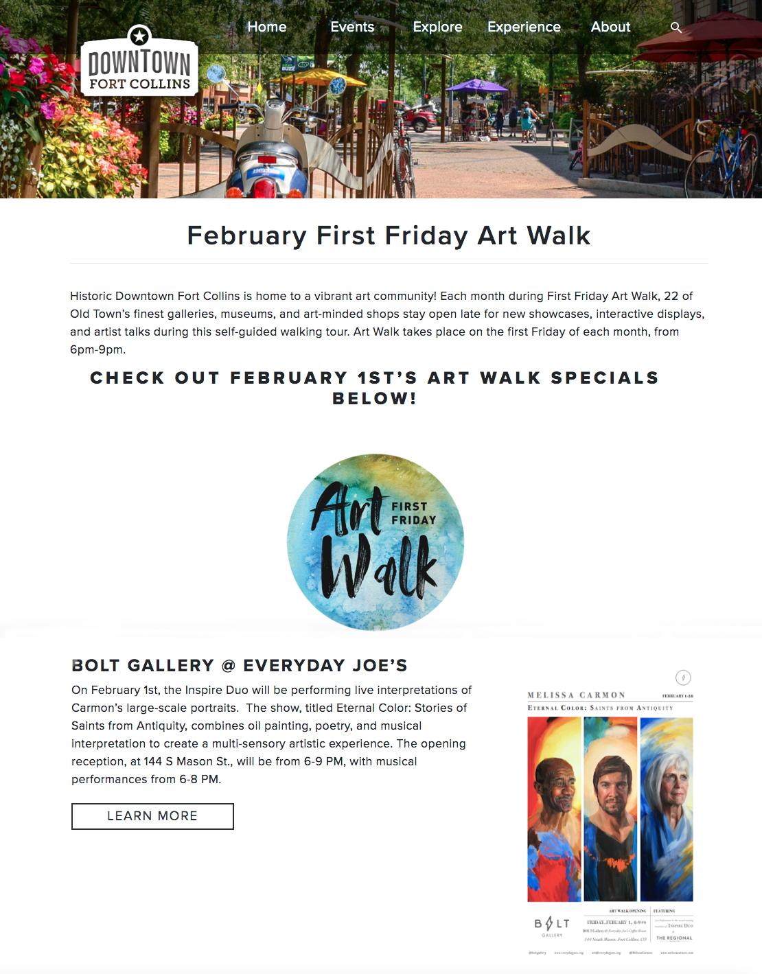 Downtown Fort Collins February Art Walk First Friday Melissa Carmon Artist.jpg