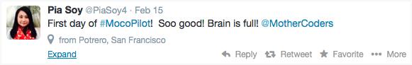 Pia's Tweet