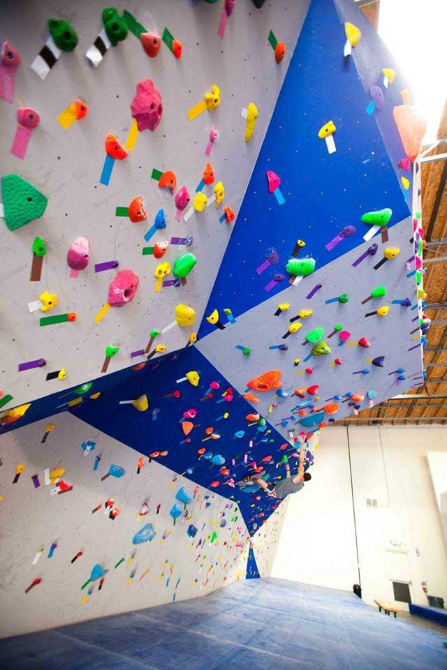 Close up of climbing wall