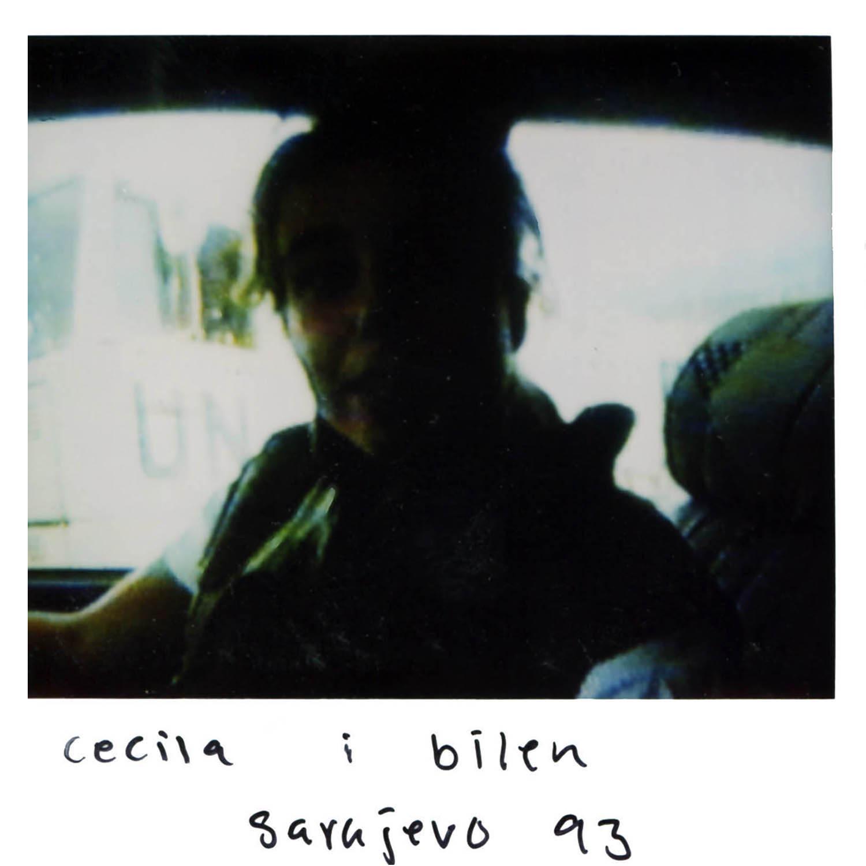 Cecilia in the car  Sarajevo -93