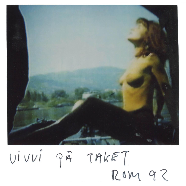 Vivvi on the roof  Rome  -92