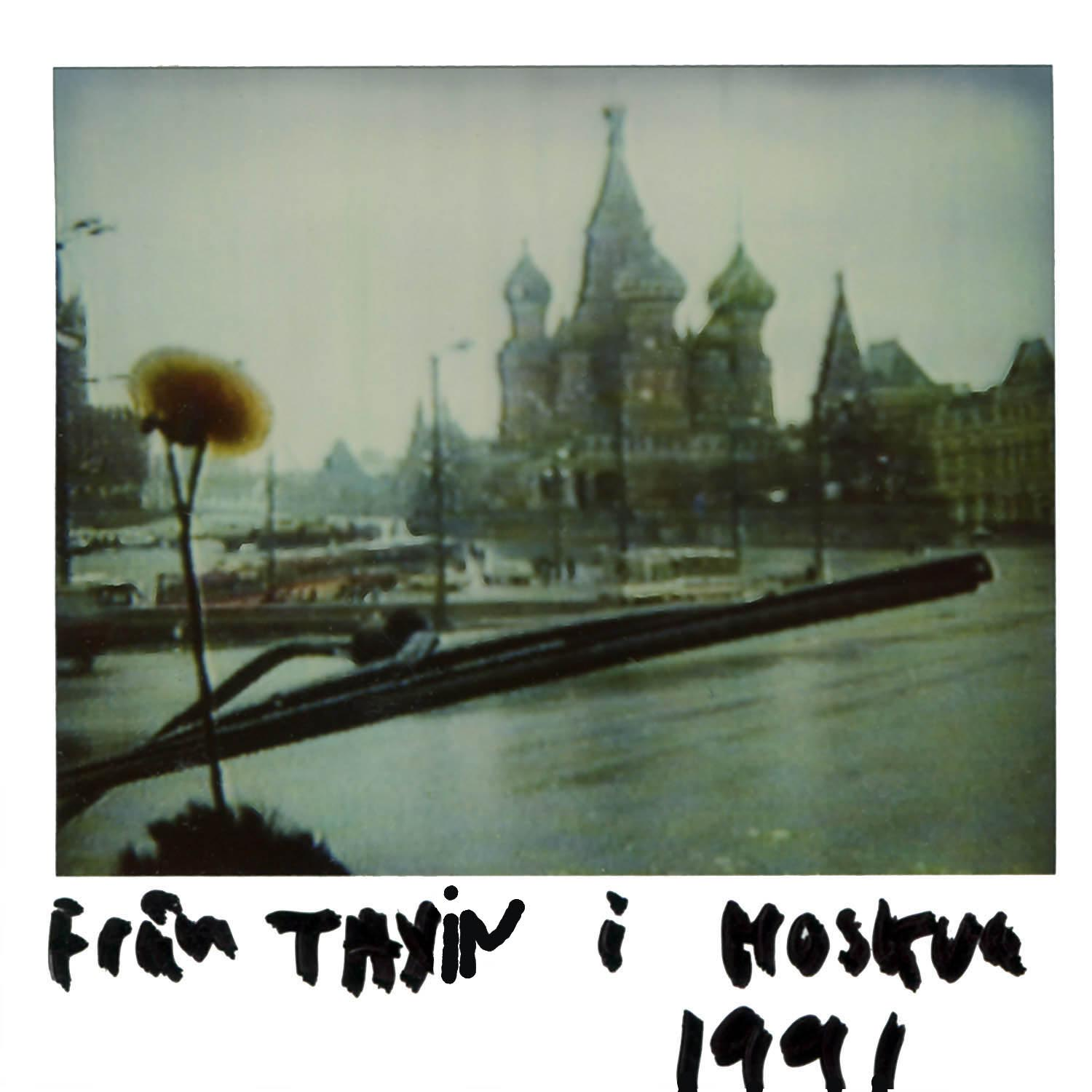 pic taken from the taxi in Moscow  1991