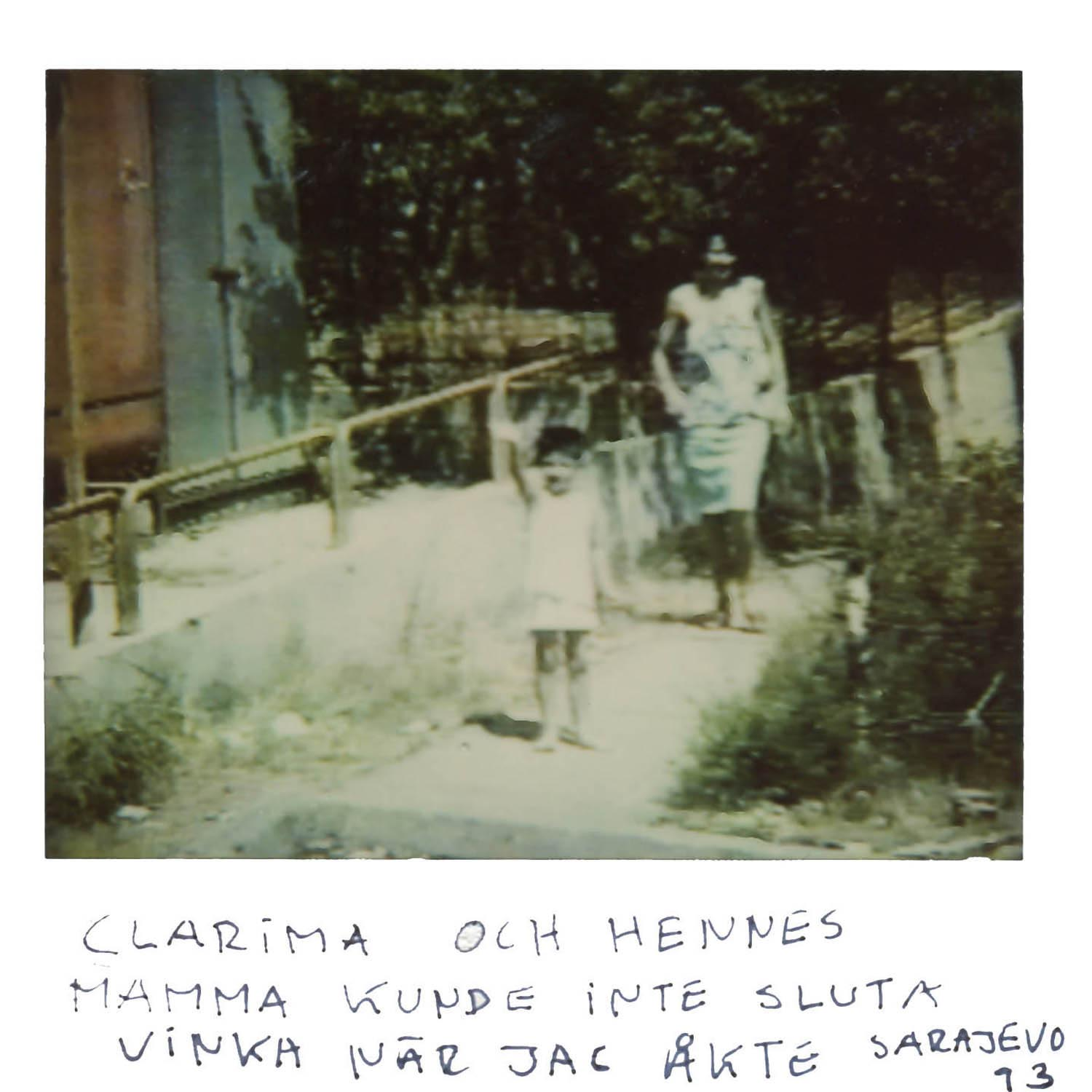 Clarima and her mother could not stop to wave bye bye, when i left  Sarajevo  -93