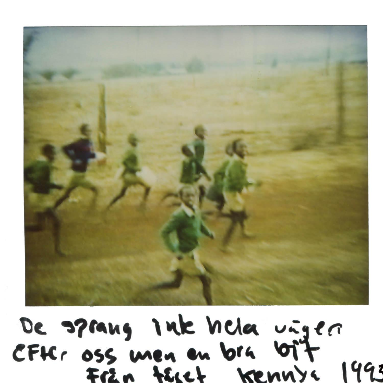 They run after us (not all the way) but a long way .... Pics taken from the train in Kenya 1993