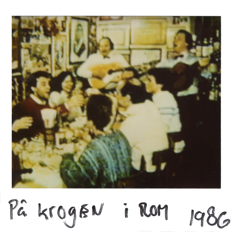 At the local r estaurant in Rome -1986