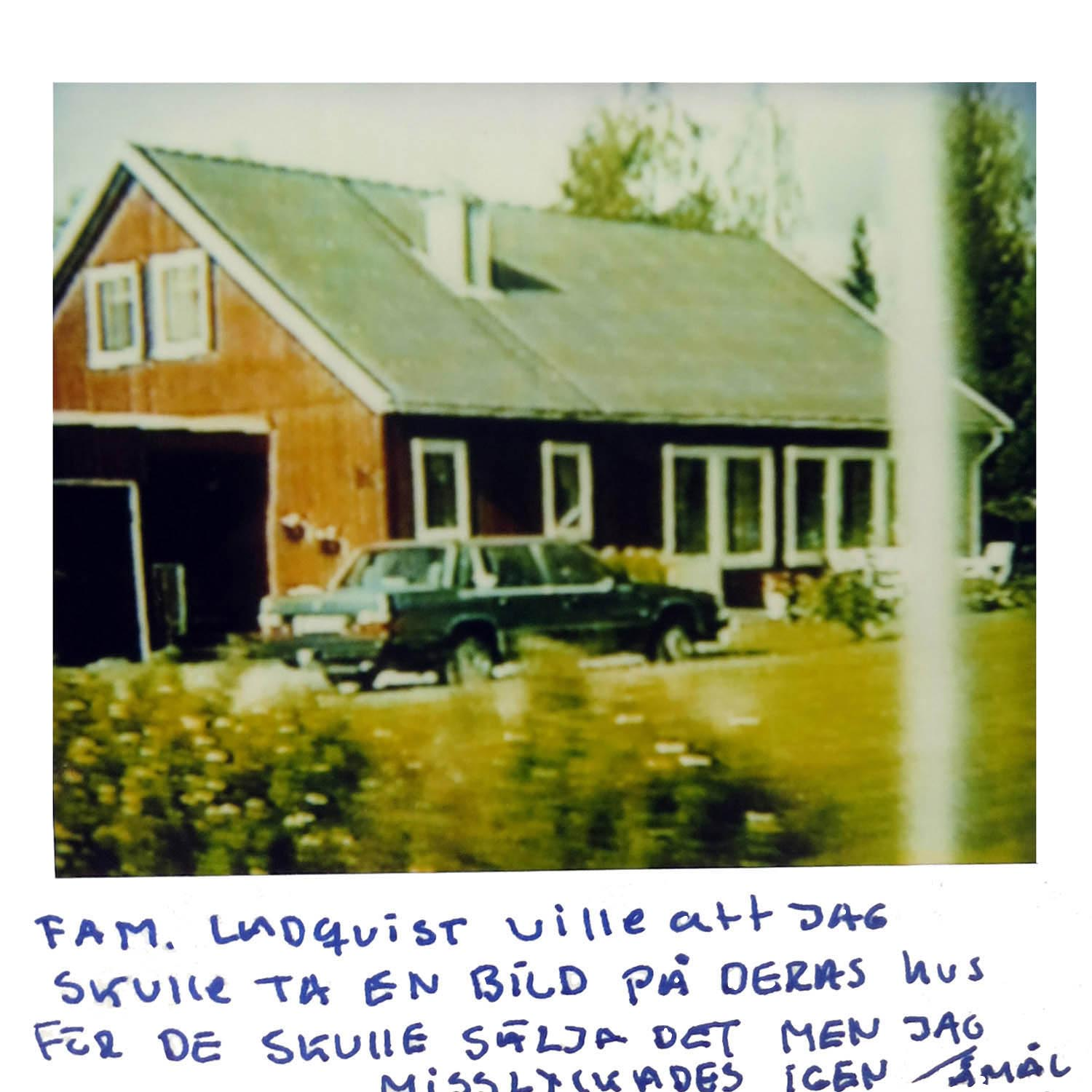 The Lundquist family wanted me to take a picture of their house, they where about to sell it, but I failed again.  ÅMÅL