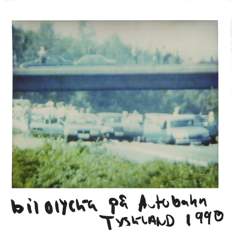 Car crash on the Autobahn in  Germany 1990