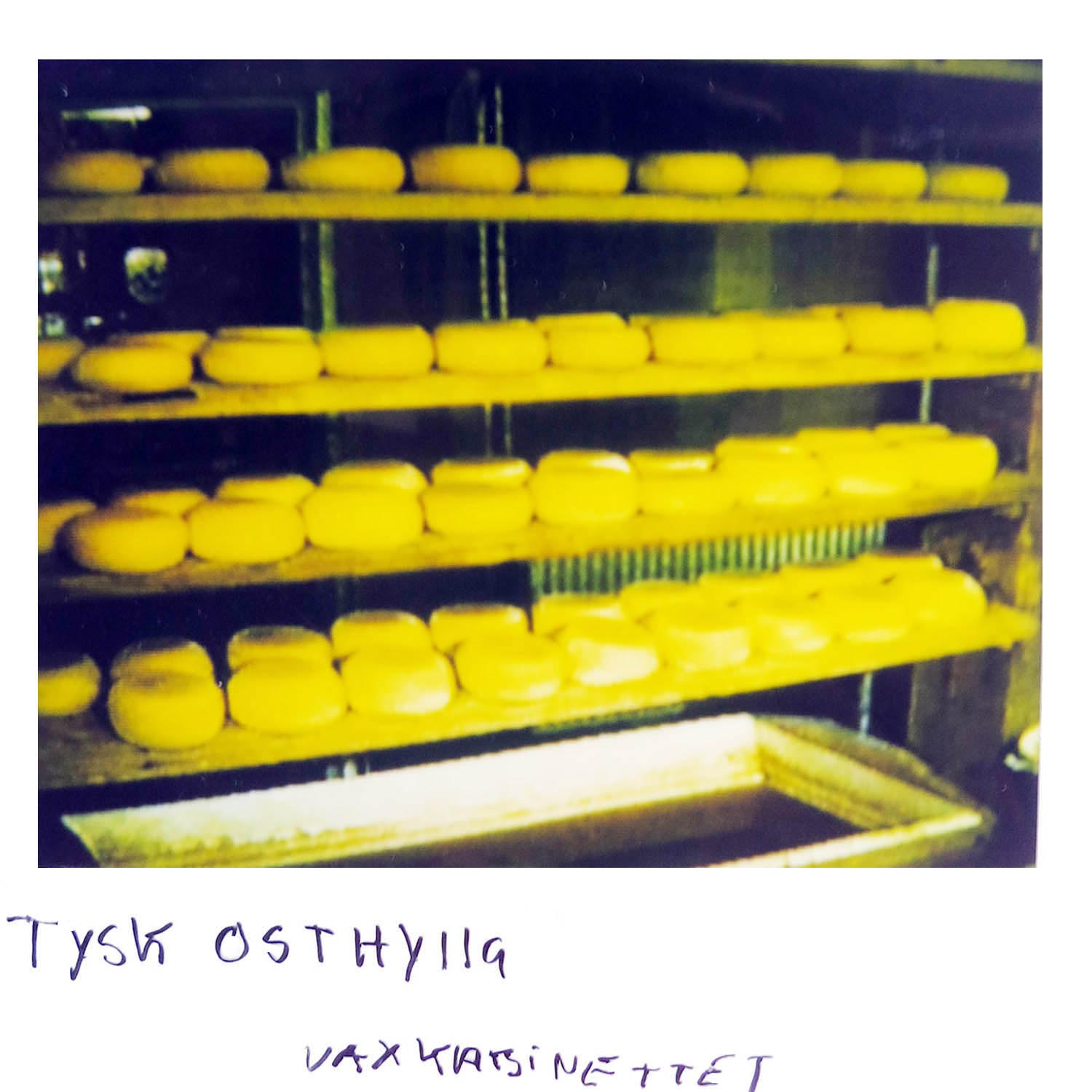A German cheese shelf  at the waxworks museum in Germany