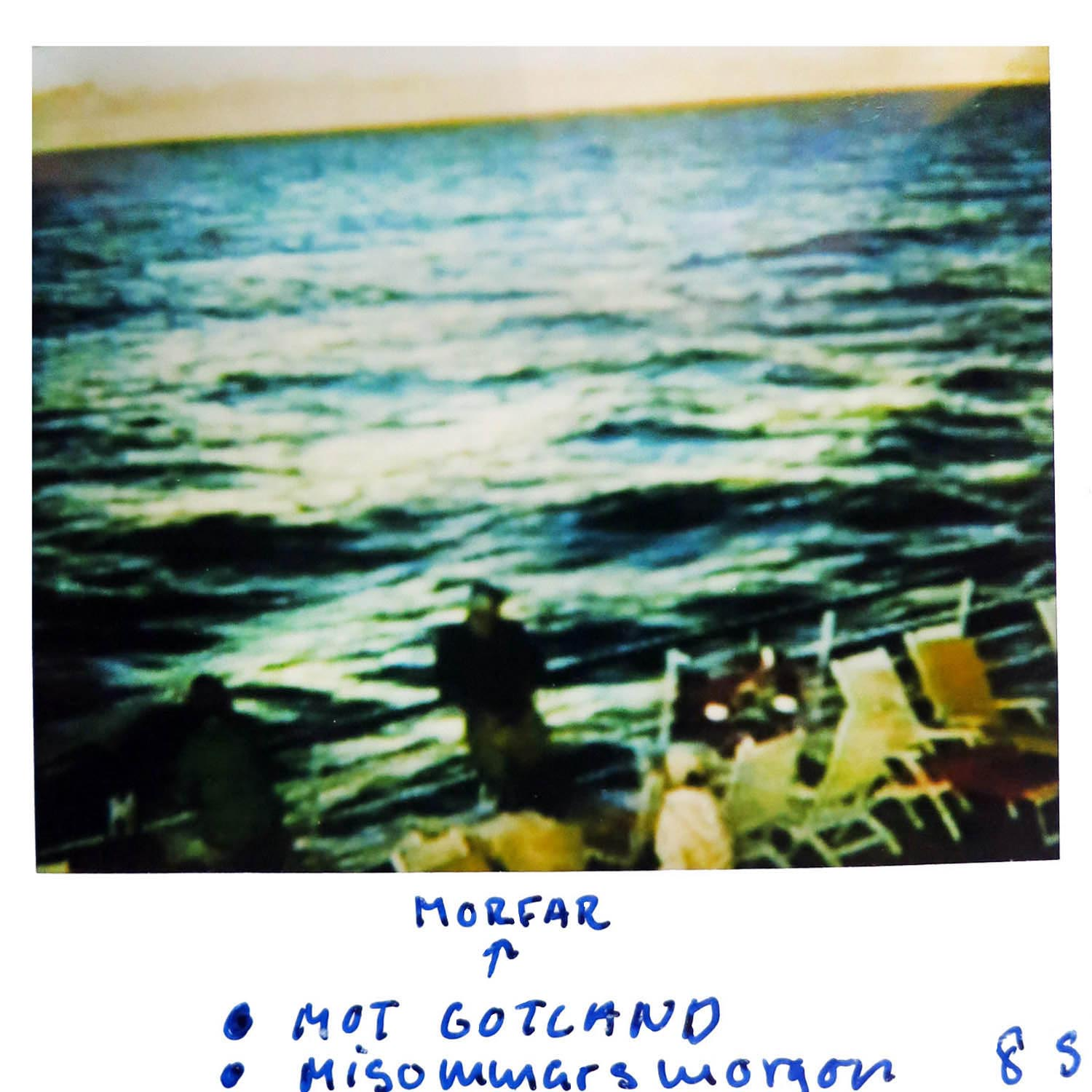 GRANDPA on the boat to Gotland  Midsummers morning -85