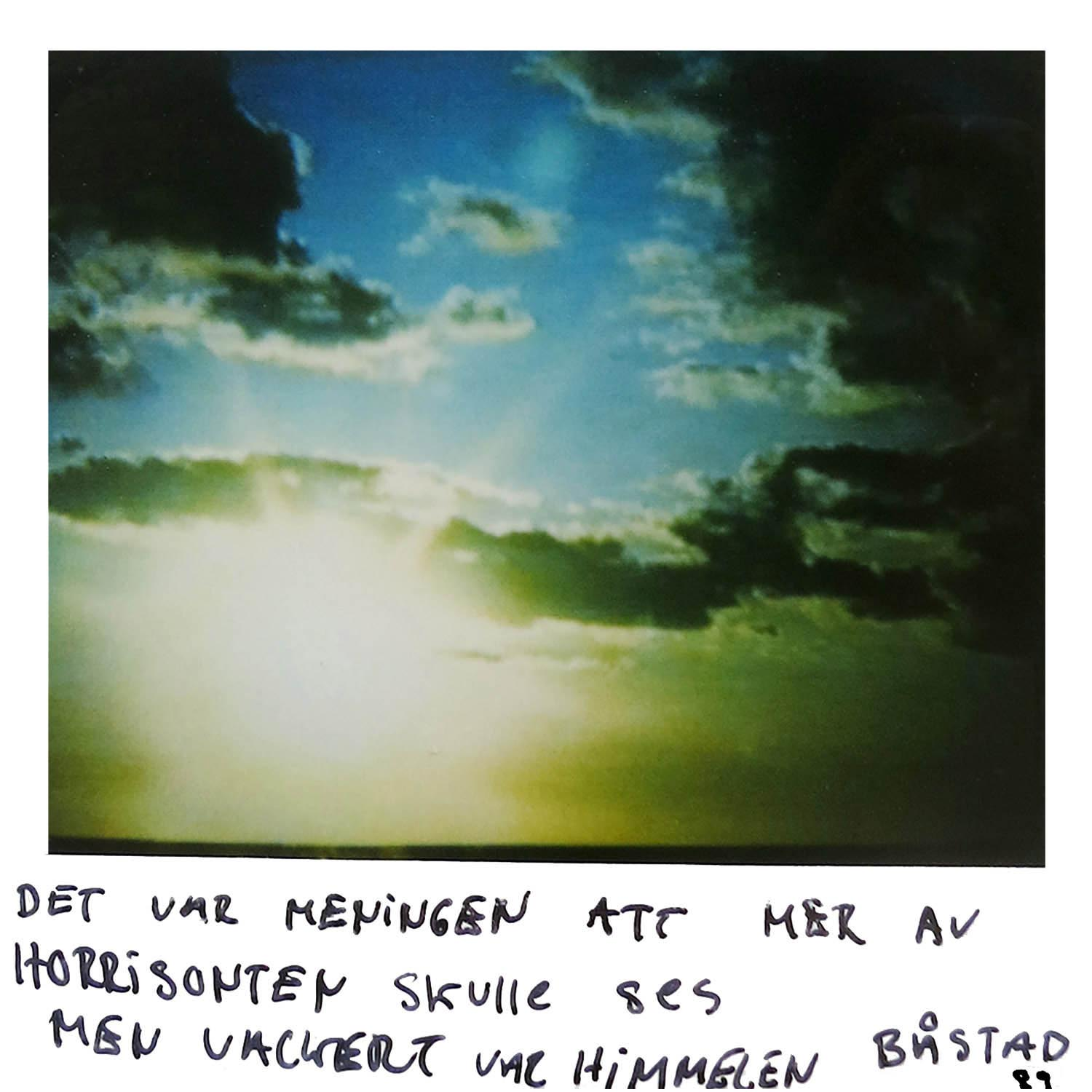 The meaning was that the horisont line should have been more visual, butbeautiful it was  Båstad -89