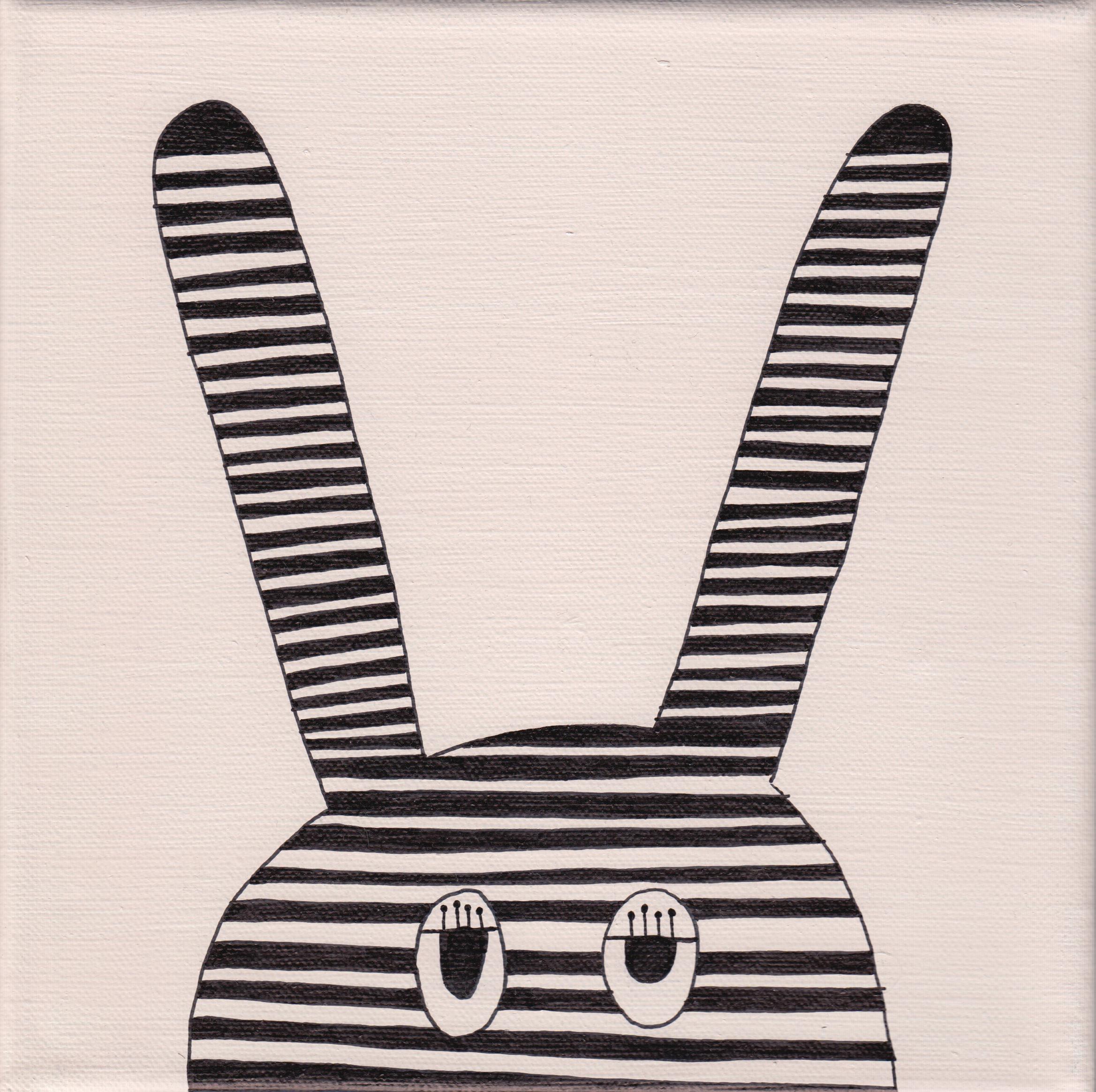 """""""bunny"""", rosé, 20x20cm, € 36,-"""