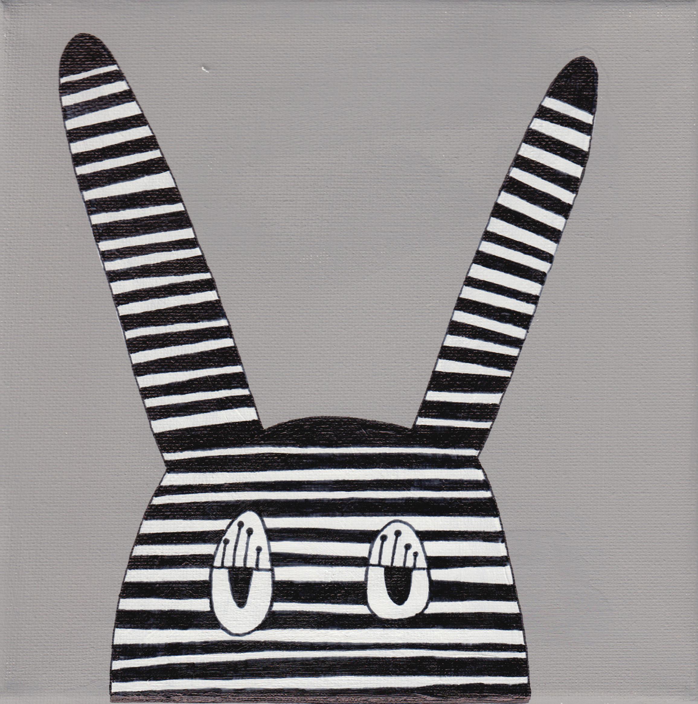 """""""bunny"""", teal, 20x20cm, € 36,-"""