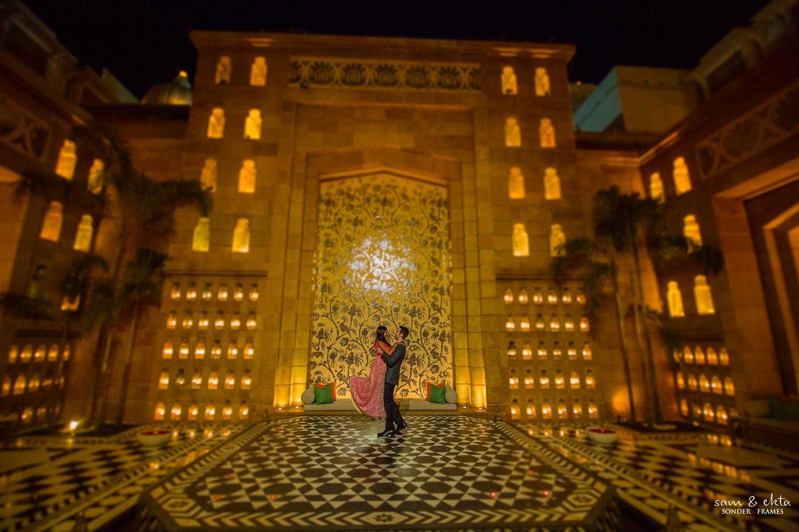 Aesha & Alon at The Leela, Udaipur
